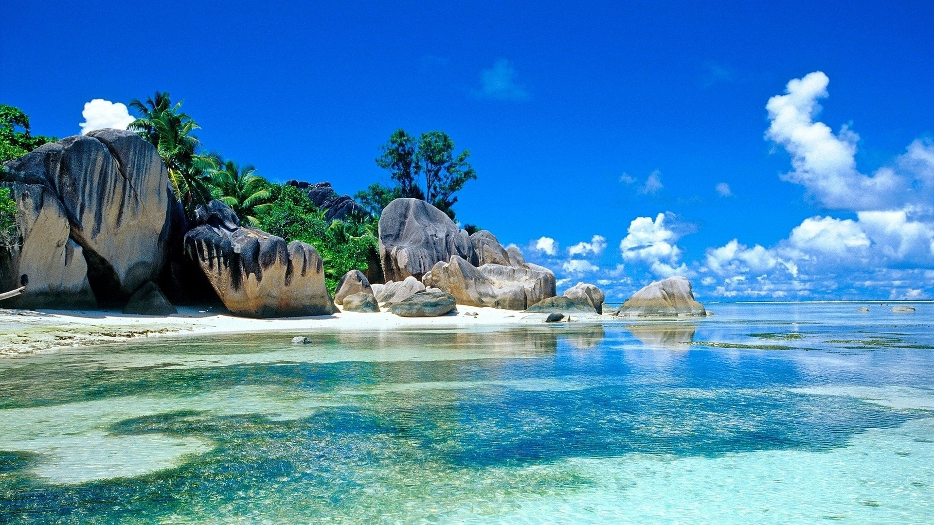 1920x1080 Free Beach Screensavers And Wallpapers Tropical Beach With Large Rocks .