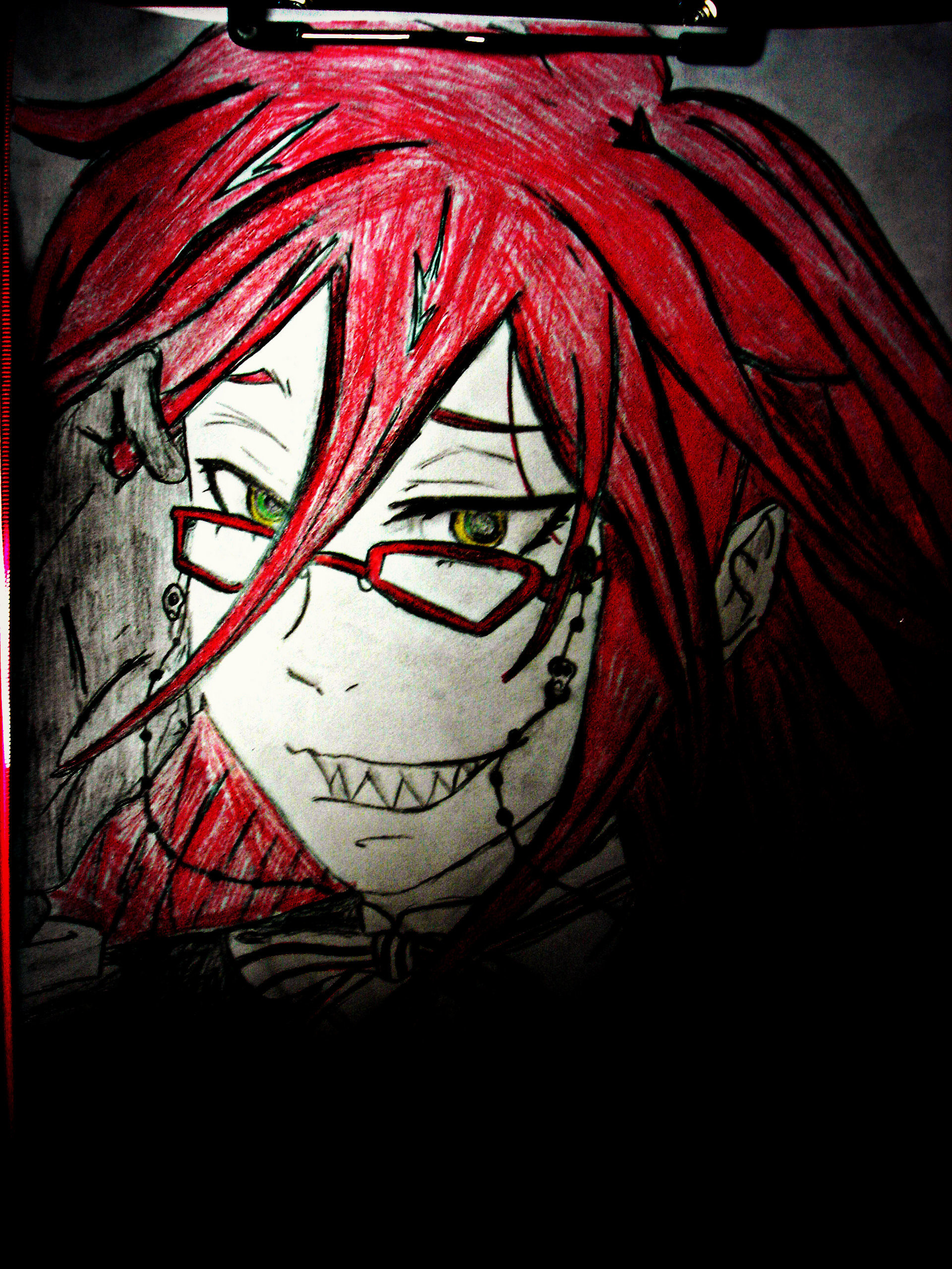 1920x2560 The Kuroshitsuji ( Black Butler ) Shinigami images Grell Sutcliff Fan Art ♥  HD wallpaper and background photos
