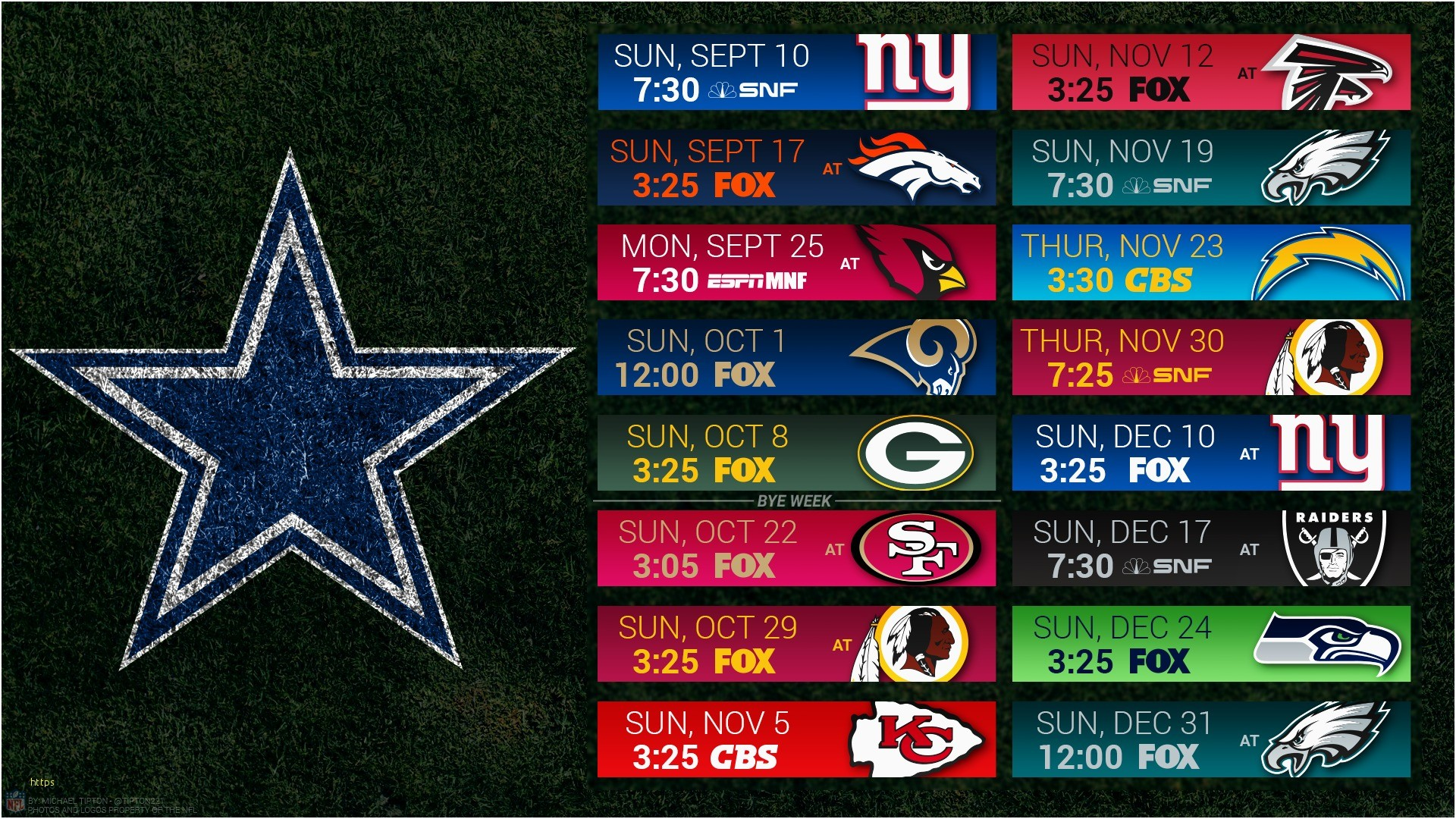 1920x1080 Dallas Cowboys Wallpaper Schedule Elegant the 2017 Nfl Schedule is Released  Cowboys Podcast