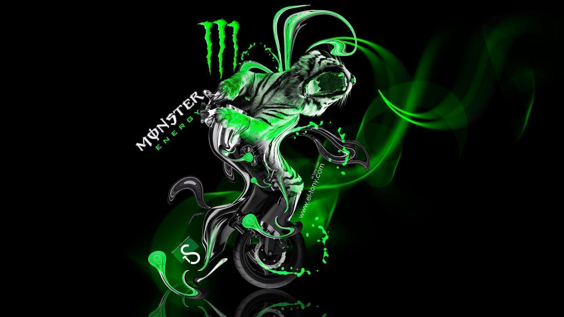 Superb 1920x1080 Monster Energy Kawasaki Ninja Green Plastic Bike Wallpapers Amazing Design