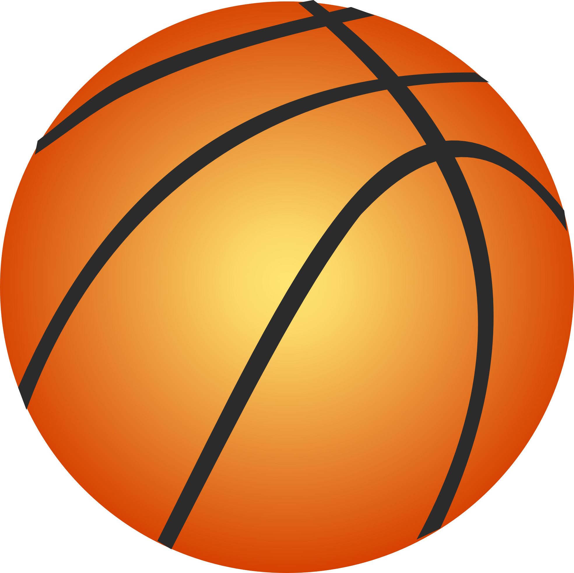 1969x1964 Basketball with basket clipart transparent background