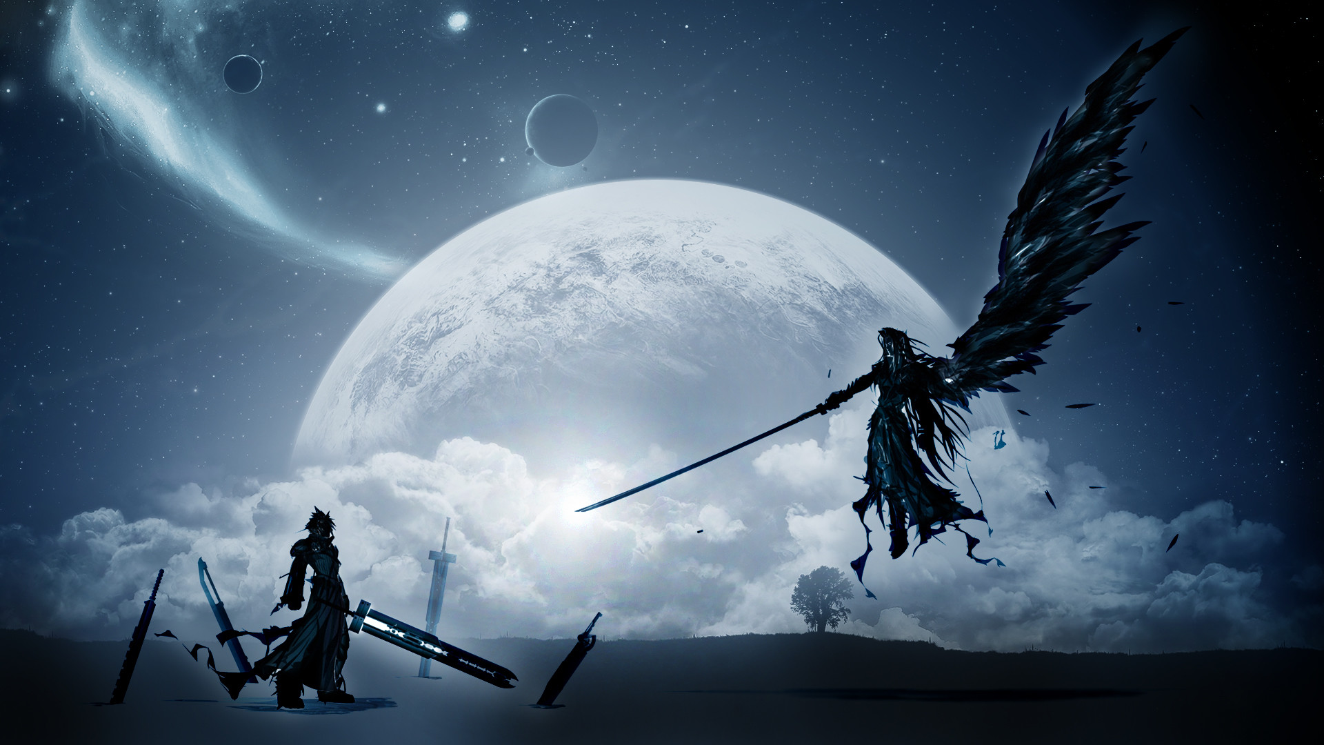 1920x1080 Filme - Final Fantasy VII: Advent Children Erde/Natur Fantasy Ff7 Wolke  Sephiroth (