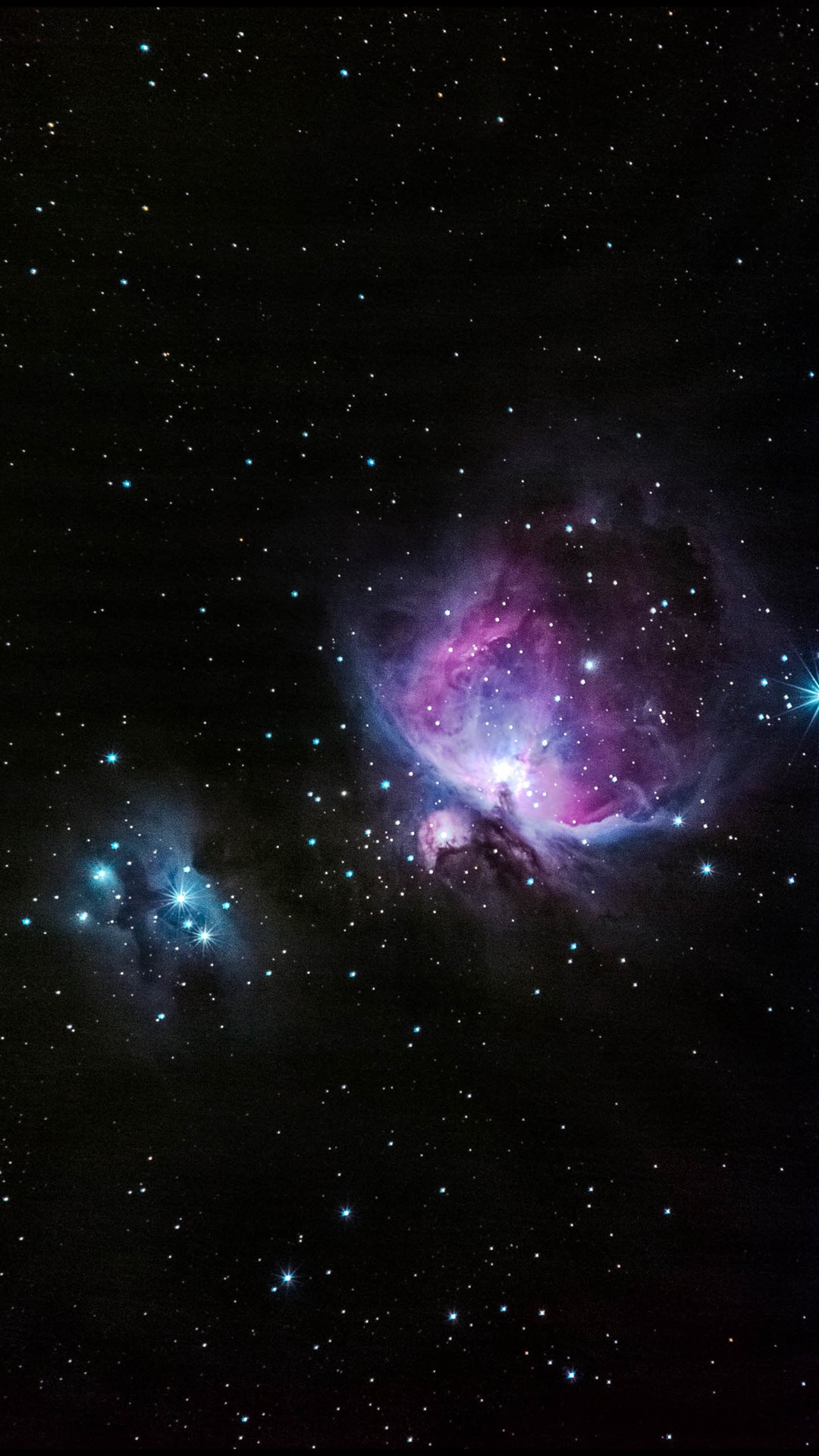 1080x1920 Blue And Pink Nebula Shiny In Outer Space #iPhone #6 #plus #wallpaper