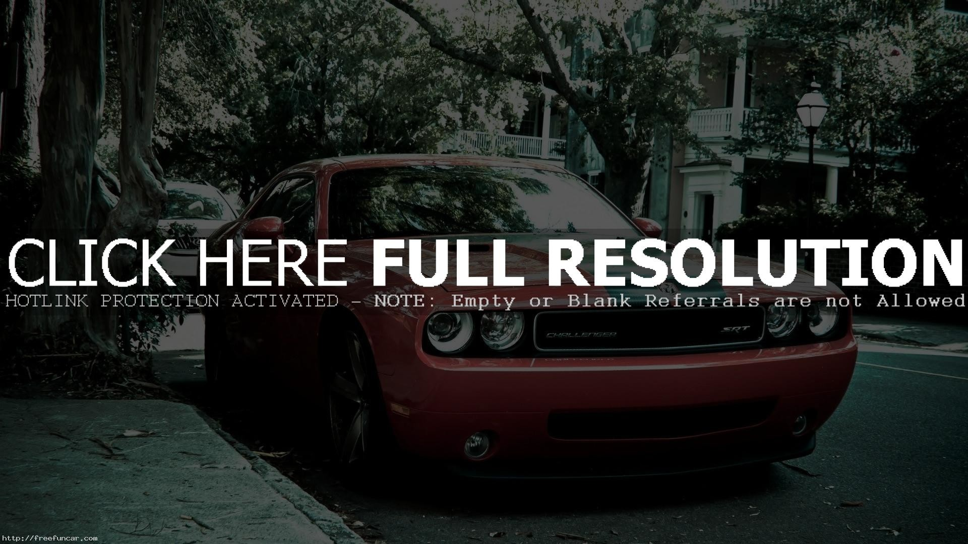 1920x1080 DODGE CHALLENGER SRT8 RED BLACK STRIPES HD WALLPAPER