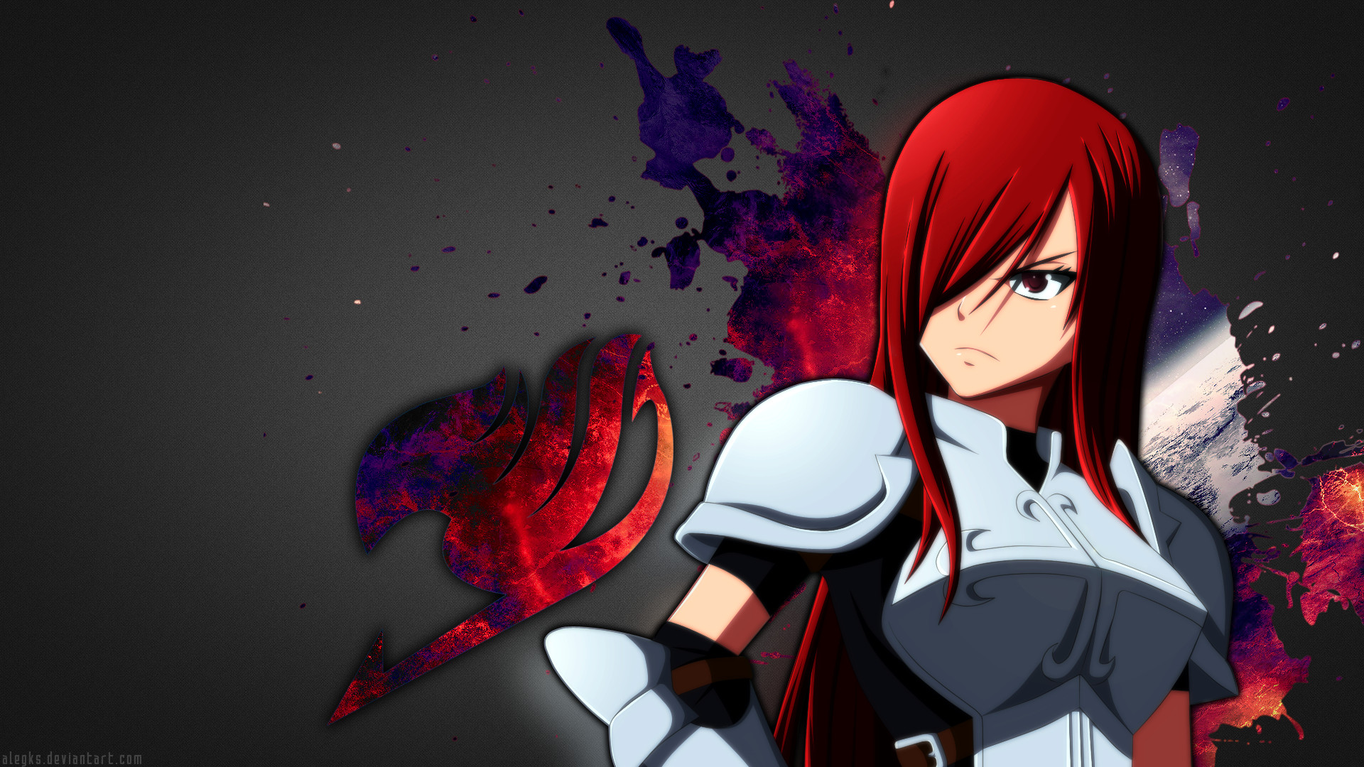 1920x1080 ... Erza Scarlet [Fairy Tail Wallpaper] by alegks