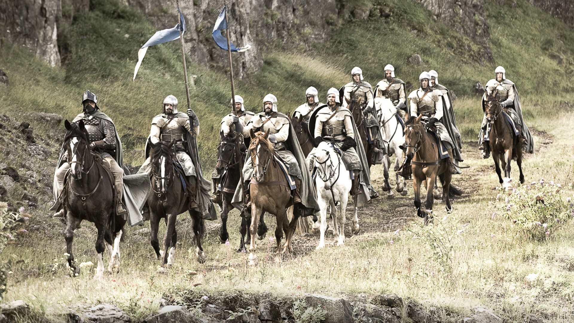 1920x1080 Preview wallpaper game of thrones, warriors, squad, horses, knights