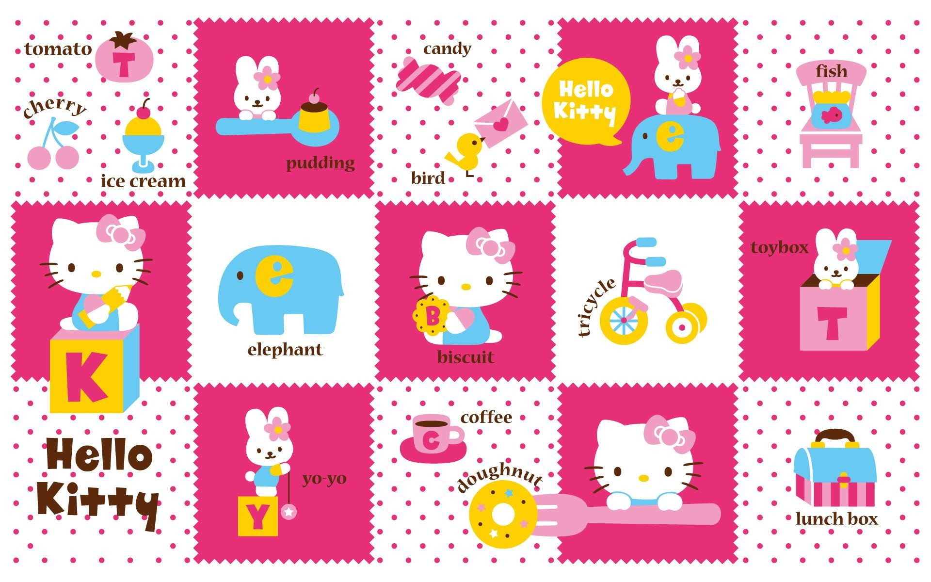 1920x1200 Set Of Hello Kitty Wallpapers