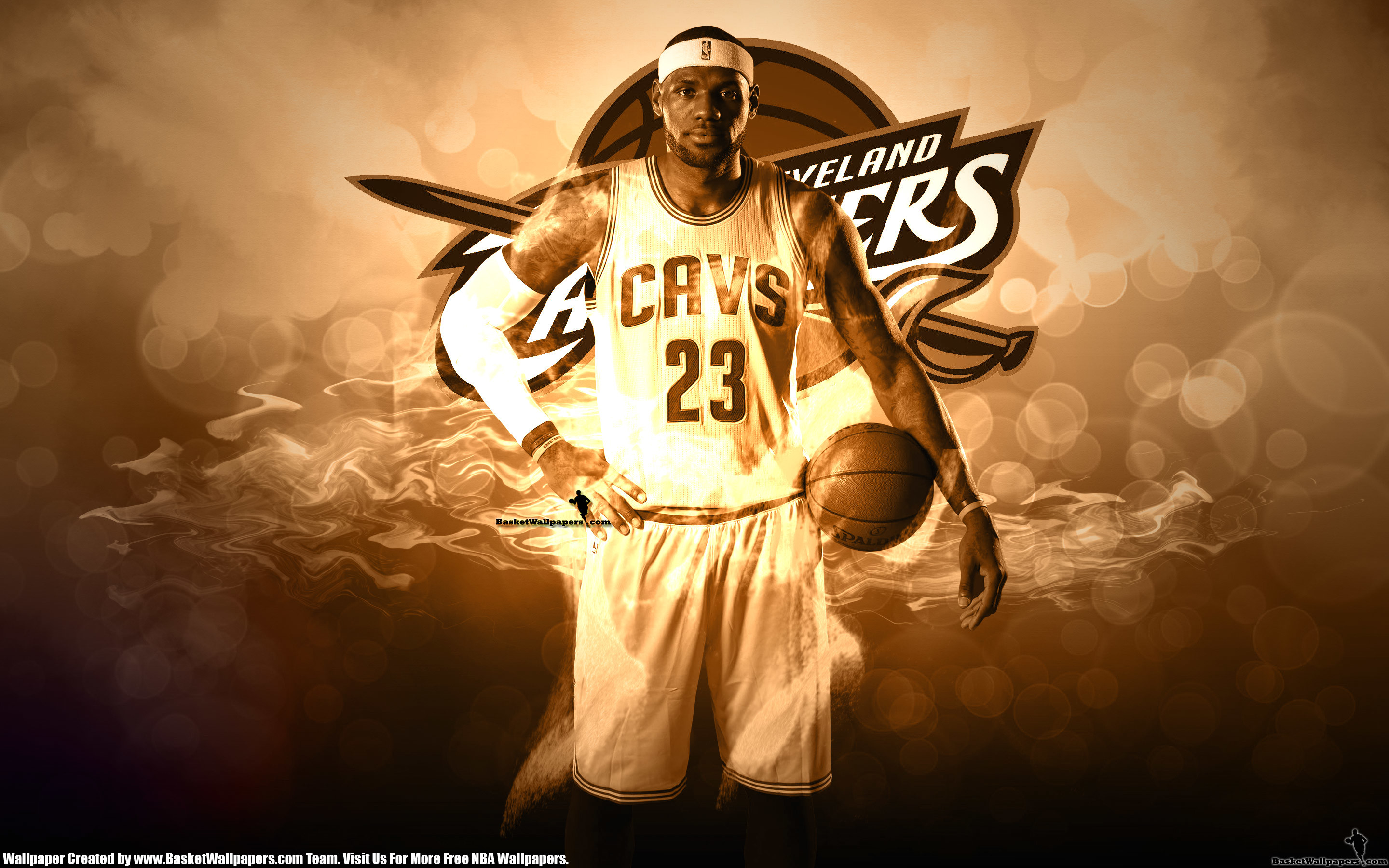 2880x1800 LeBron James Cavaliers 2014 Wallpaper