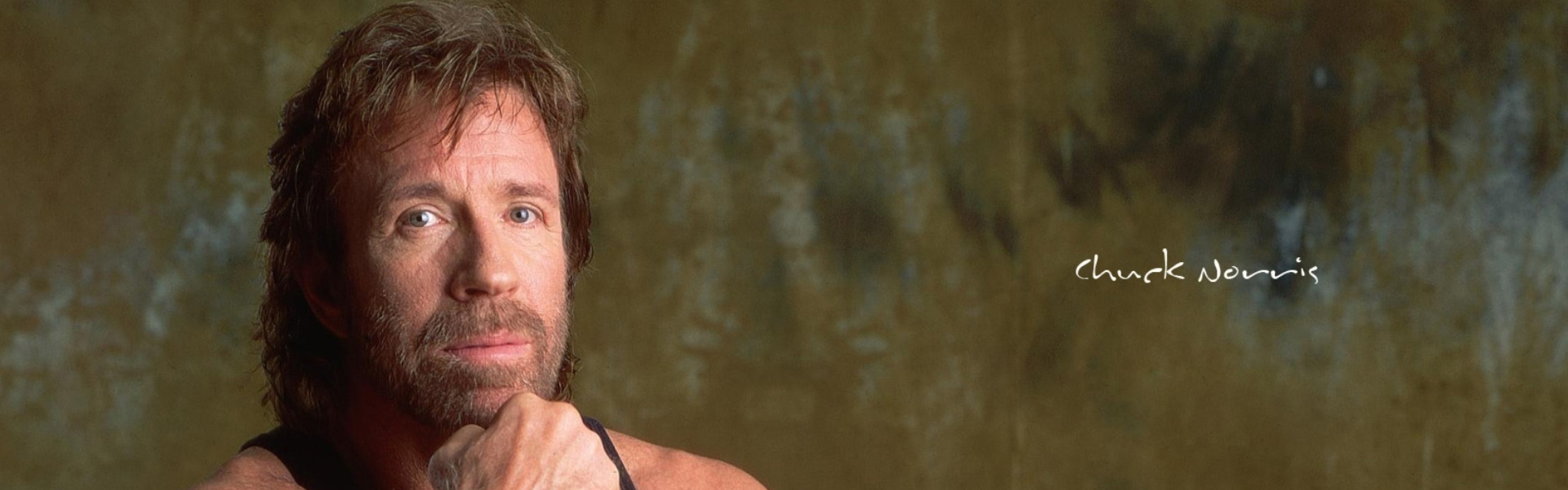 3840x1200  Wallpaper chuck norris, man, actor, shirt, celebrity, hollywood