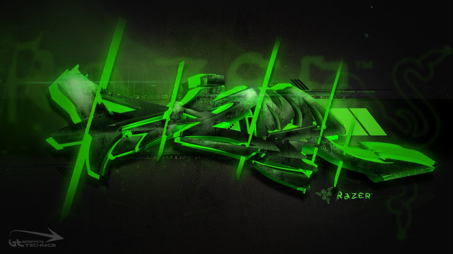 1920x1080 Razer Neon Green Wallpapers