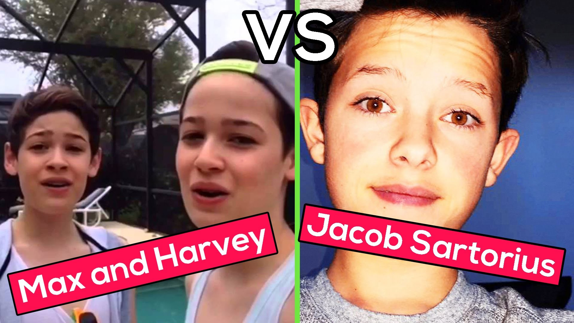 1920x1080 Jacob Sartorius VS. Max and Harvey Twins | Who was better? Musical.ly  Compilation