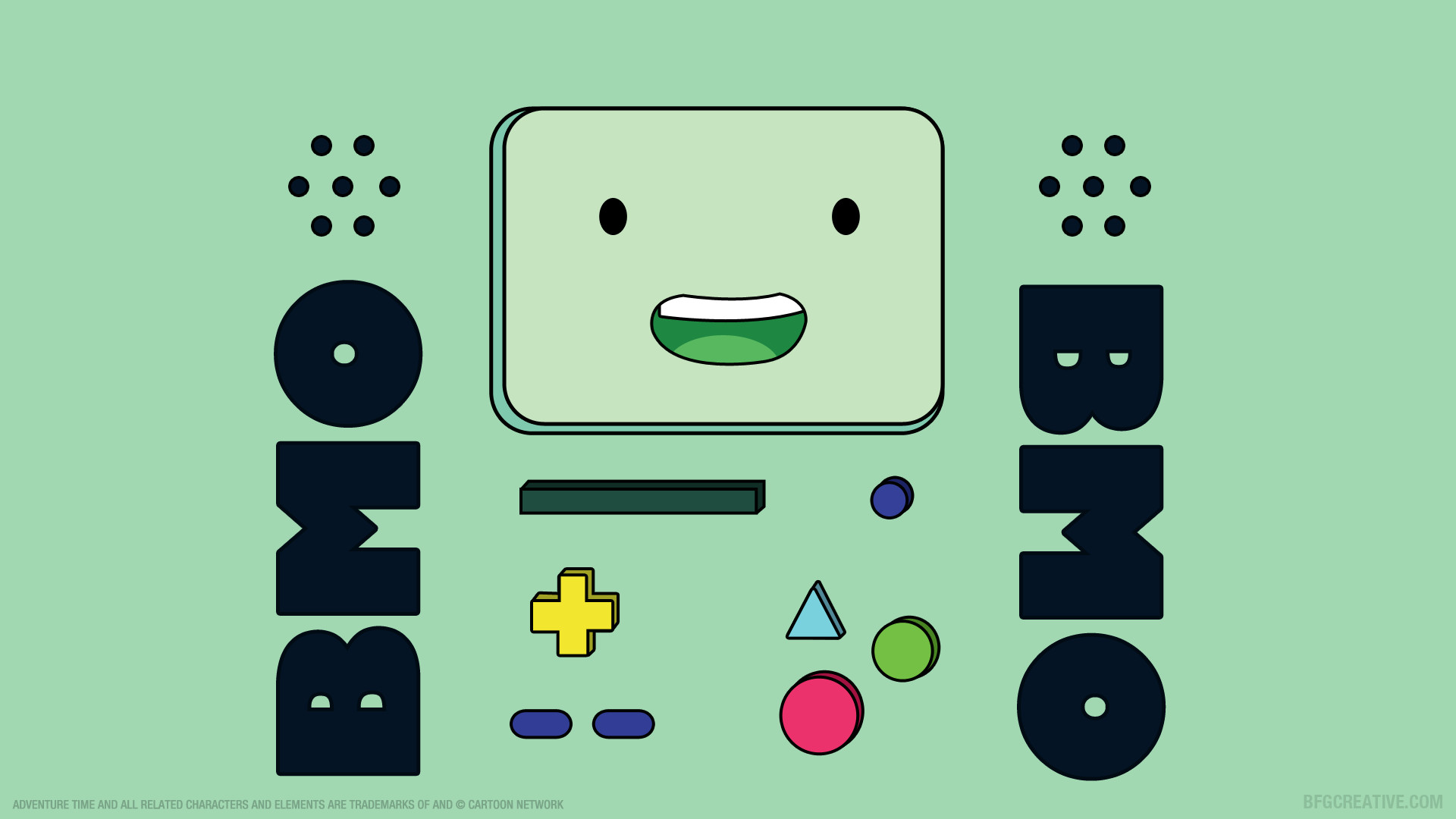 1920x1080  wallpaper of Beemo (BMO) from 'Adventure Time'.