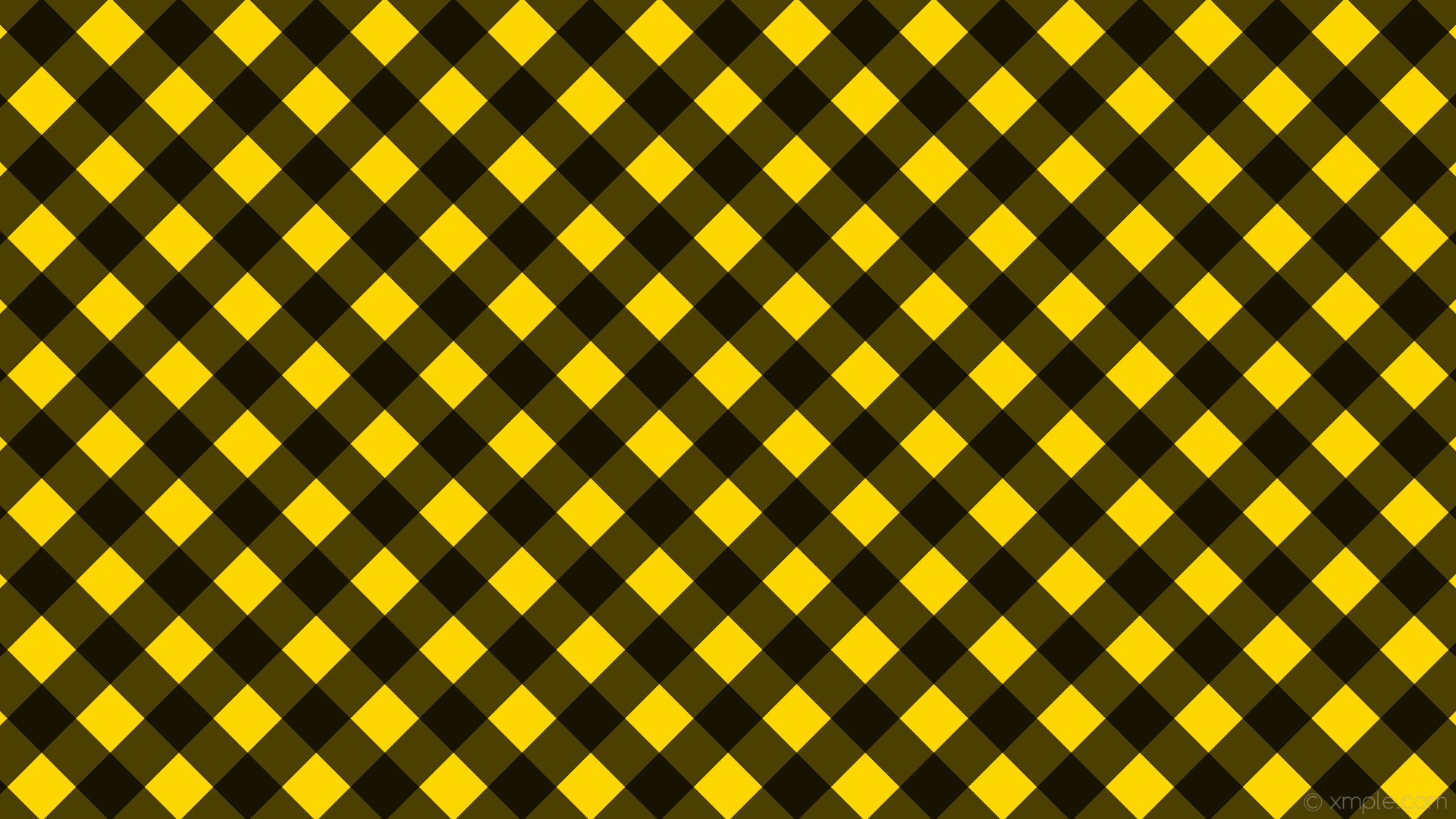 1920x1080 wallpaper gingham striped checker black yellow gold #ffd700 #000000 315°  64px