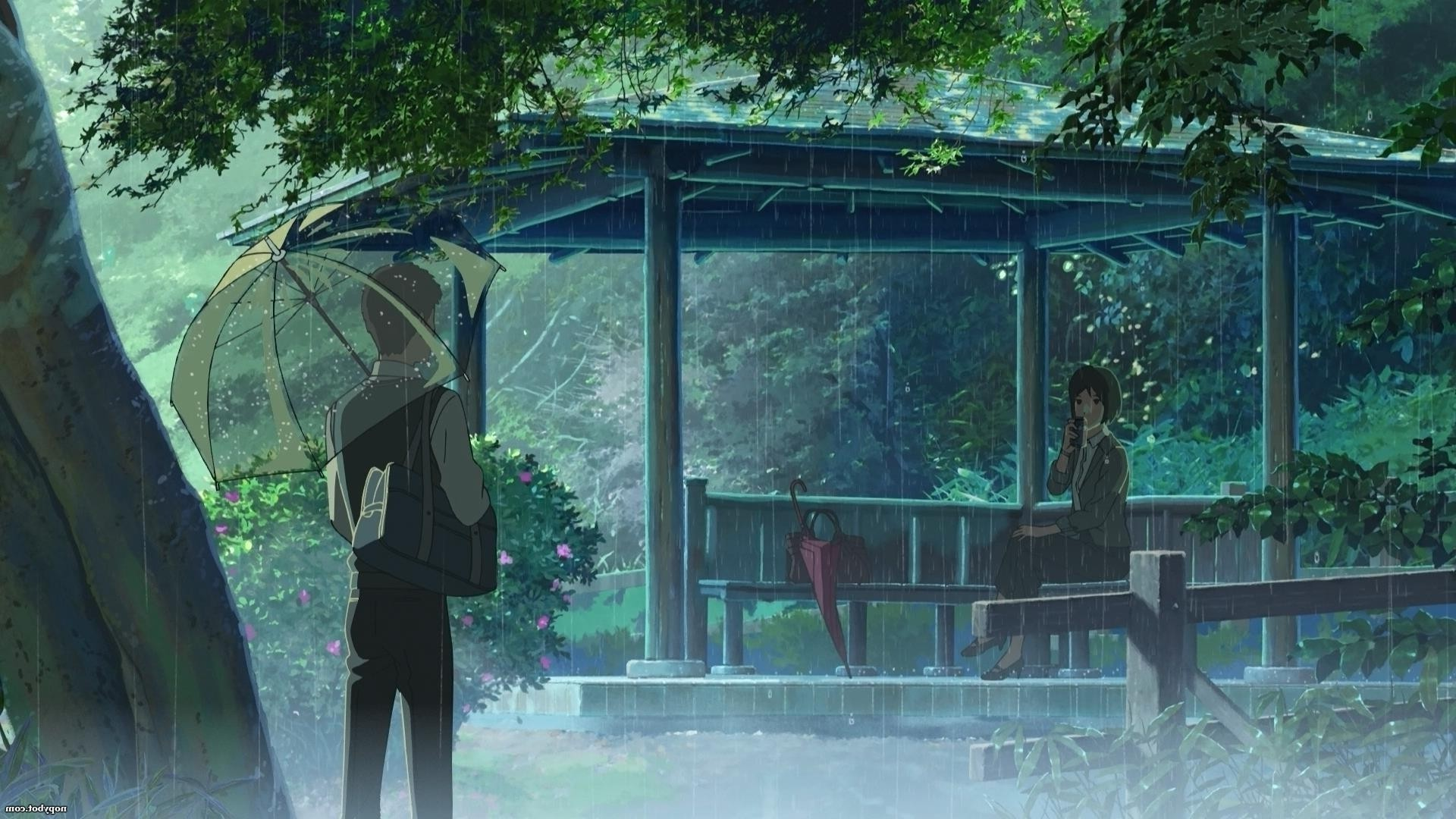 1920x1080 rain, The Garden Of Words, Makoto Shinkai Wallpapers HD / Desktop and  Mobile Backgrounds