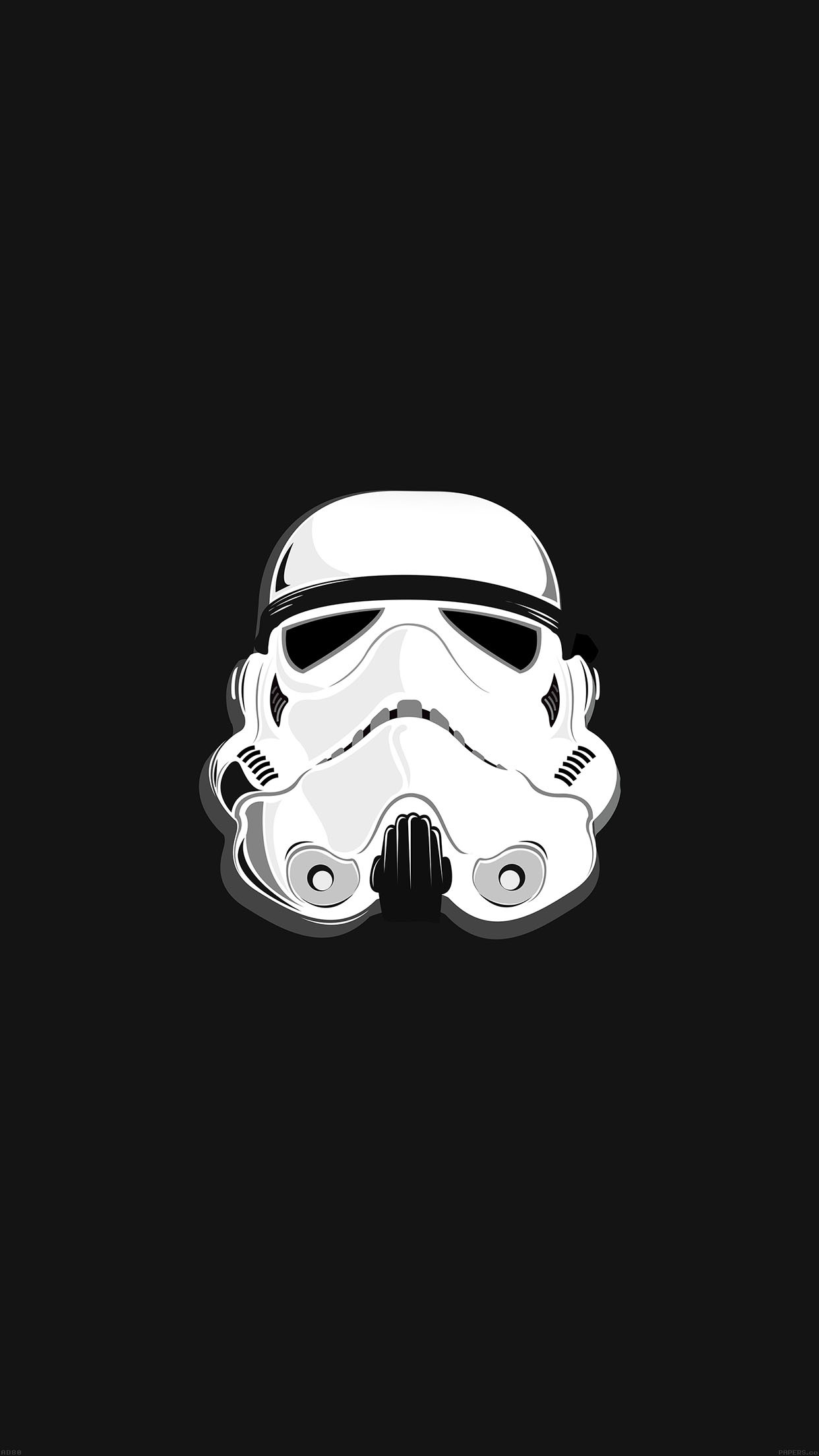 1242x2208 Storm Trooper Star Wars Illustration Android Wallpaper