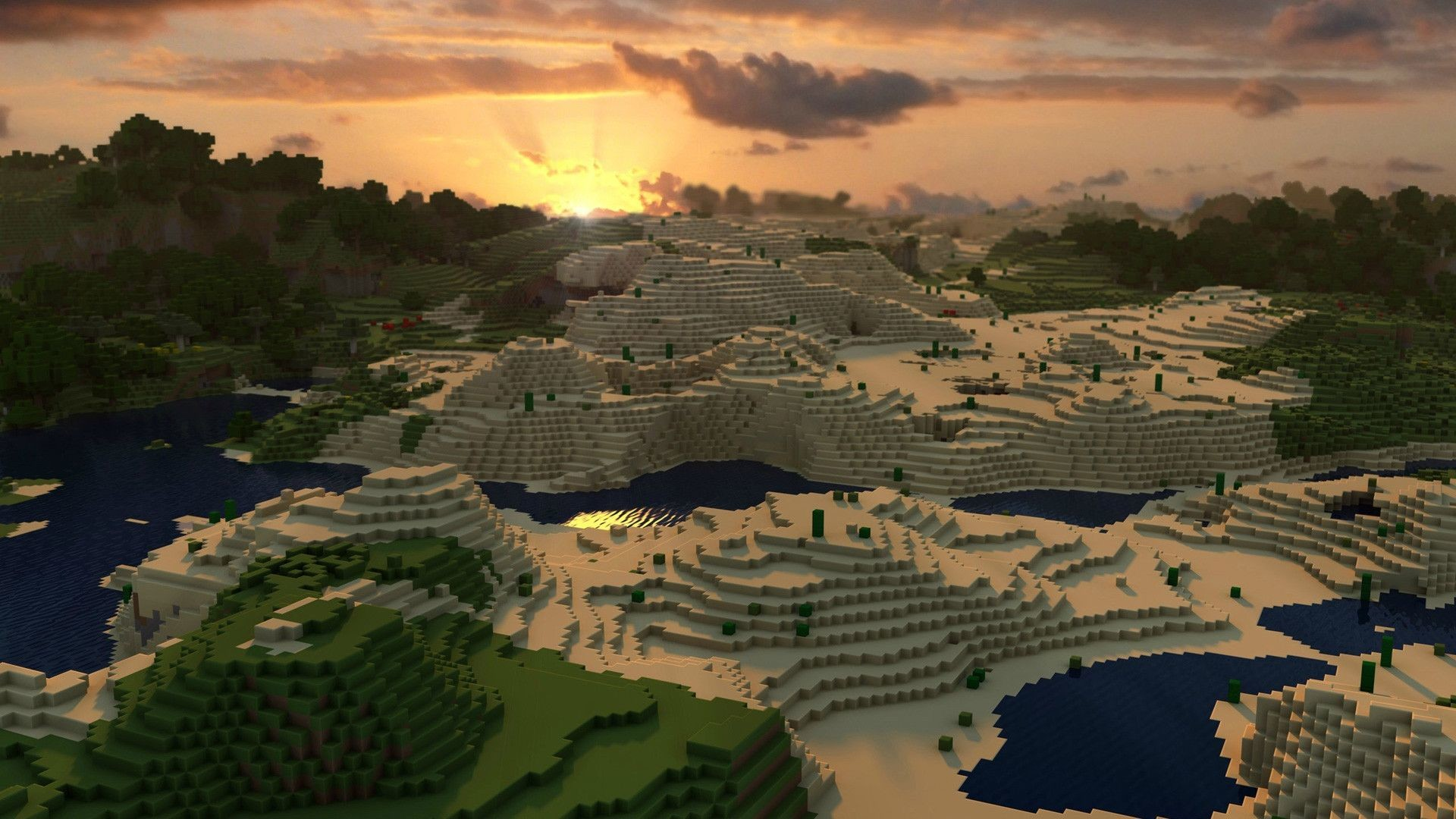 1920x1080 Minecraft Shaders Background Wallpapers For Desktop