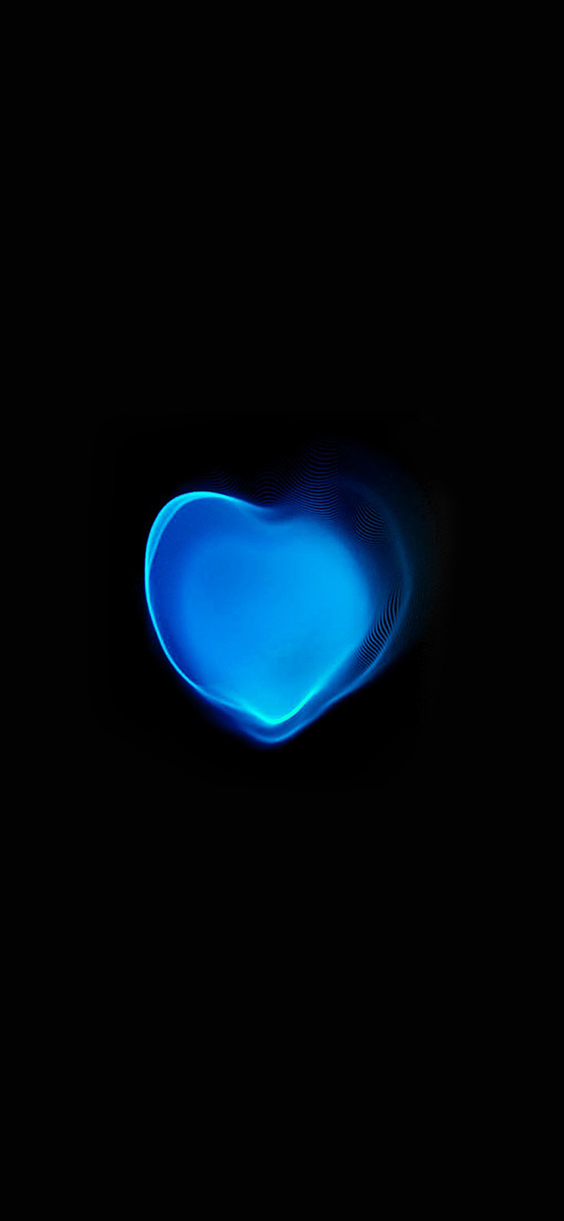 1125x2436 Blue apple love iPhone 8 Wallpaper