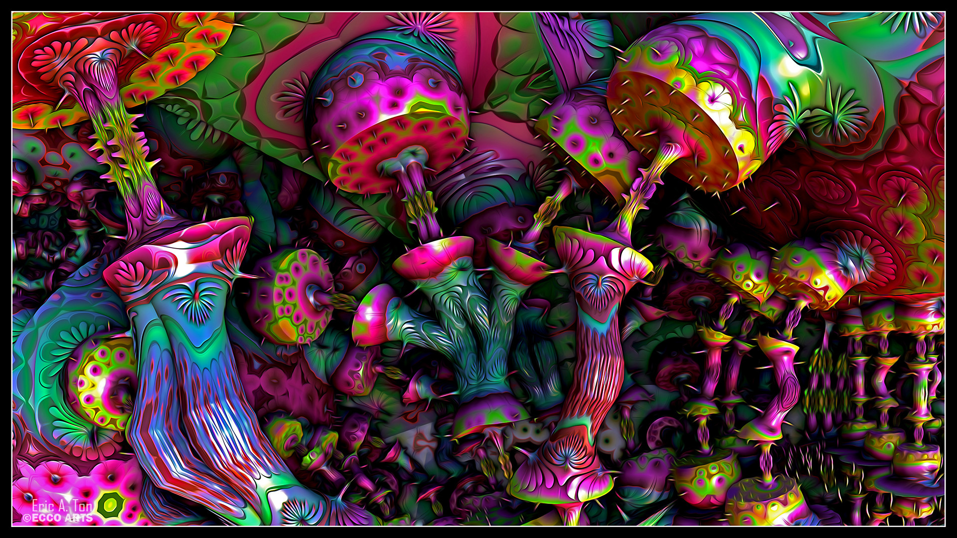 1920x1080 Psychedelic Mushrooms by eccoarts on DeviantArt