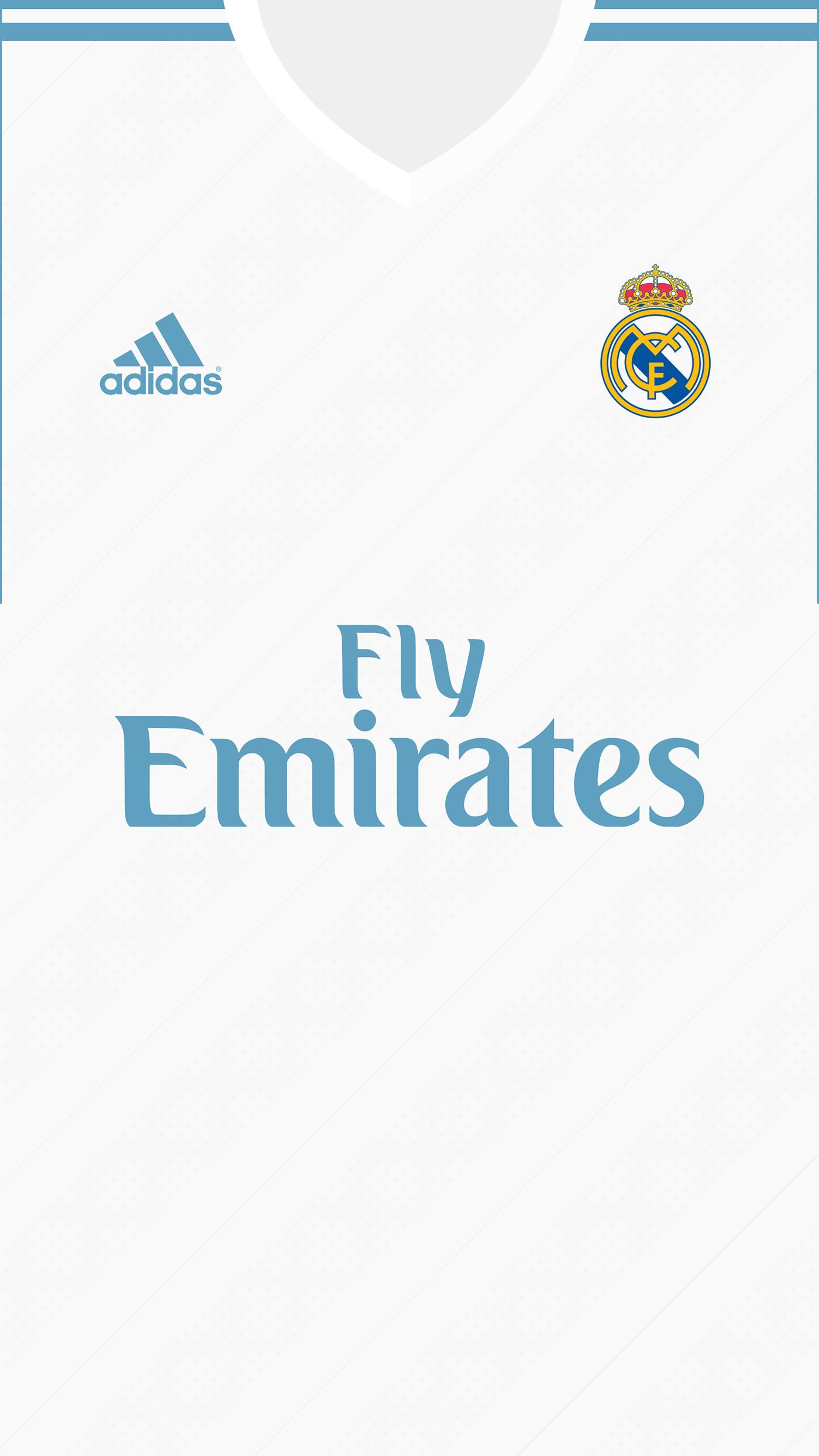 1400x2489 Real Madrid Kit 2017/18 | Wallpaper for mobile on Behance