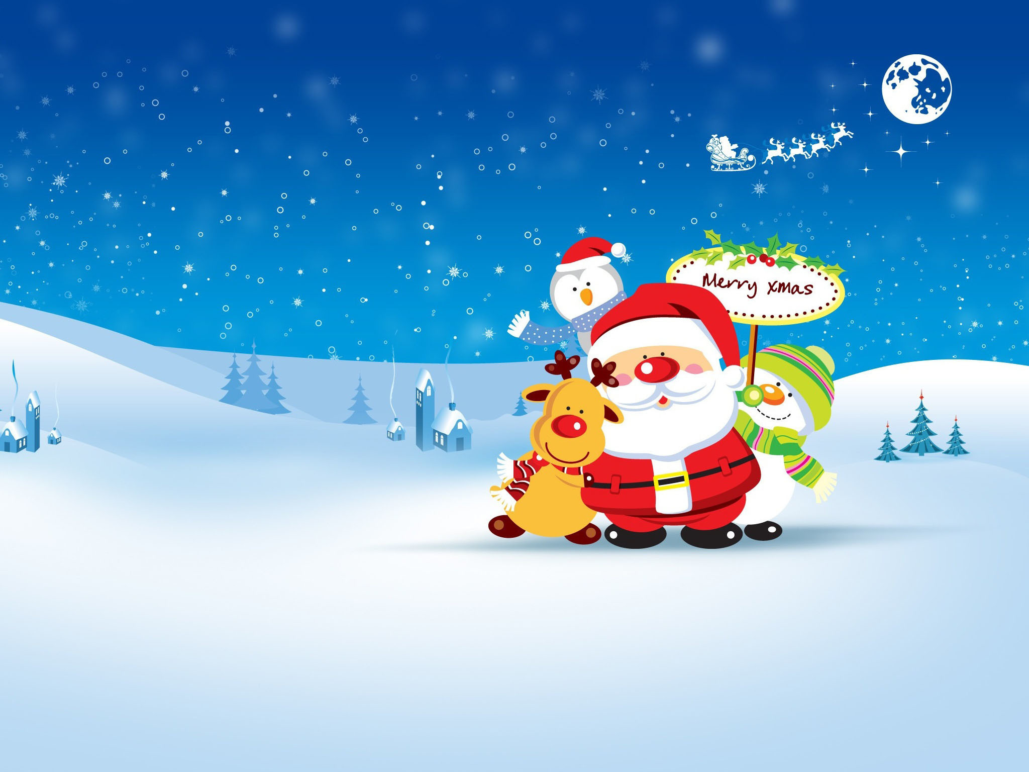 2048x1536 Merry Xmas Wallpaper Hd