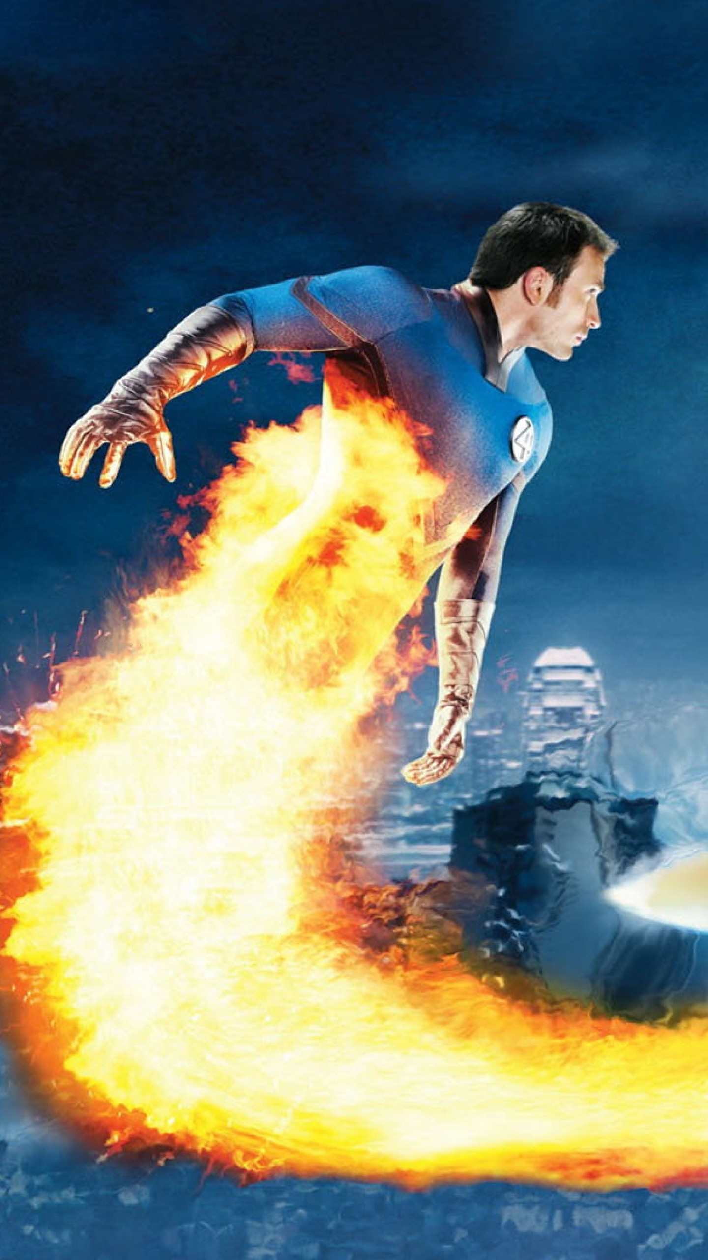 1440x2560  Wallpaper fantastic 4, rise of the silver surfer, chris evans,  human torch