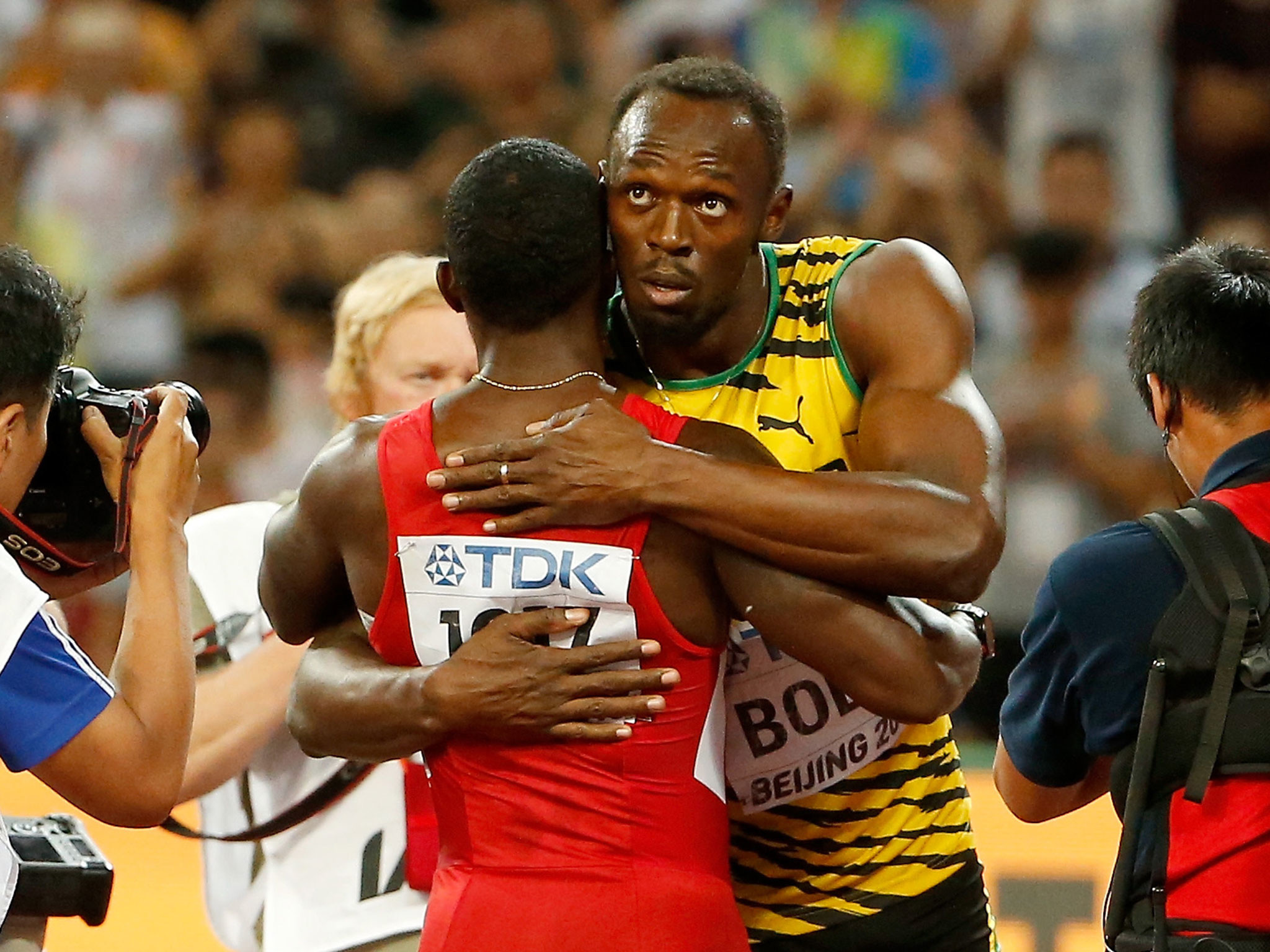 2048x1536 Usain Bolt beats Justin Gatlin in 100m final: Twitter reaction to hugely  popular result in Beijing | The Independent