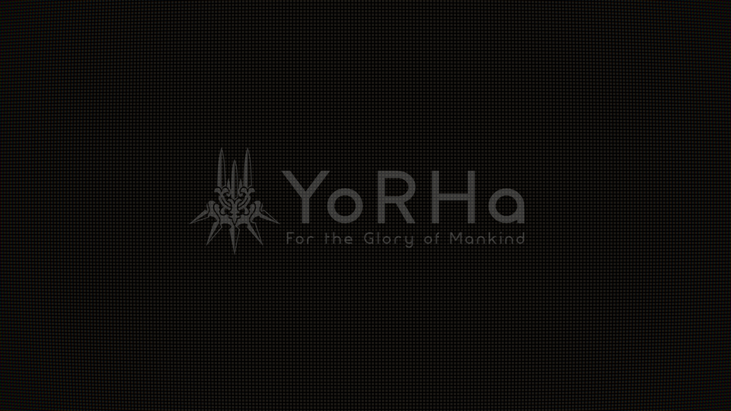 2560x1440 ThemingI recreated the YoRHa loading screen as a wallpaper [1440p] ...