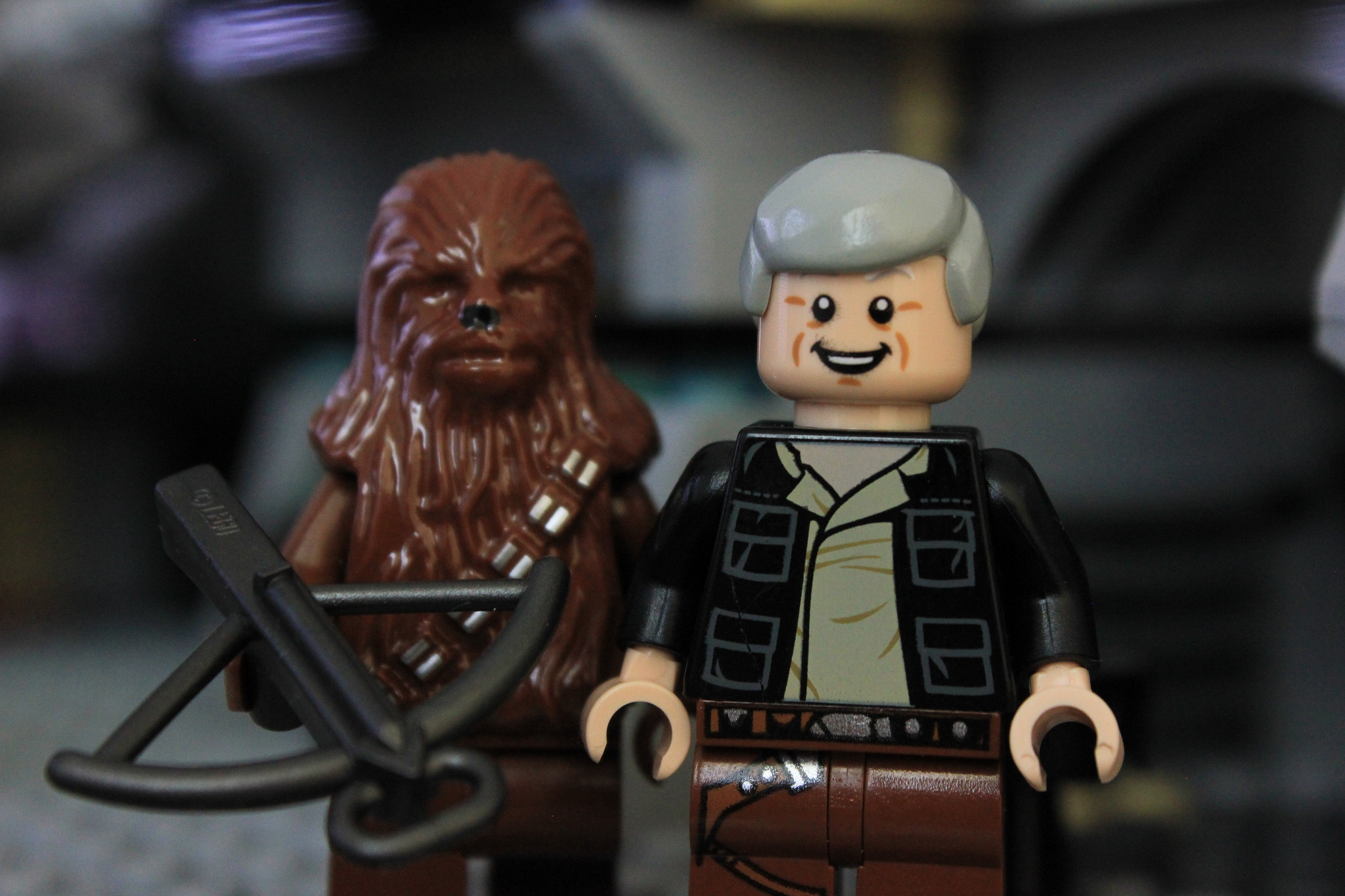 2048x1365  Wallpaper lego star wars, the force awakens, han solo, chewbacca