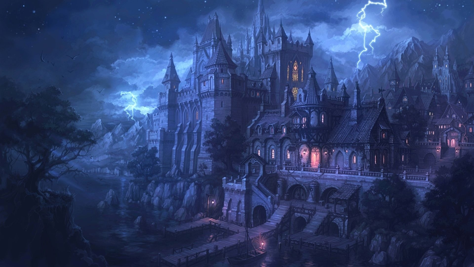 1920x1080 Fantasy Dark Castle Wallpaper Widescreen 2 HD Wallpapers