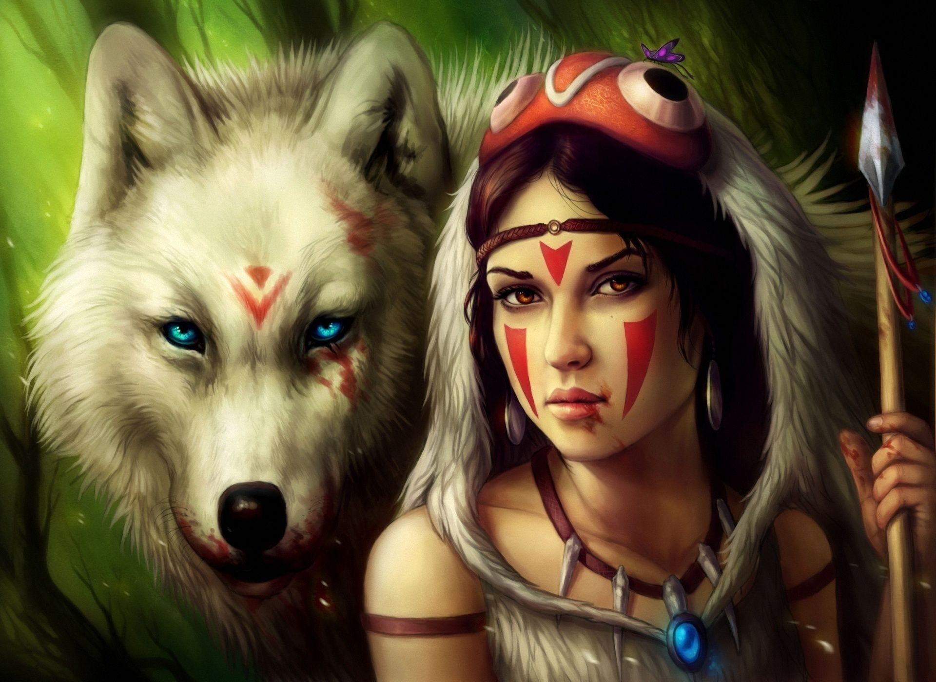 1920x1399  Wolf Girl | Wallpapers Girl White Wolf Art Free In  .