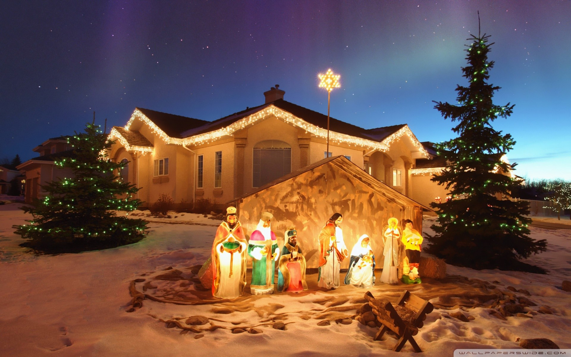 1920x1200 Outdoor Christmas Nativity Scen · outdoor_christmas_nativity_scene-wallpaper -