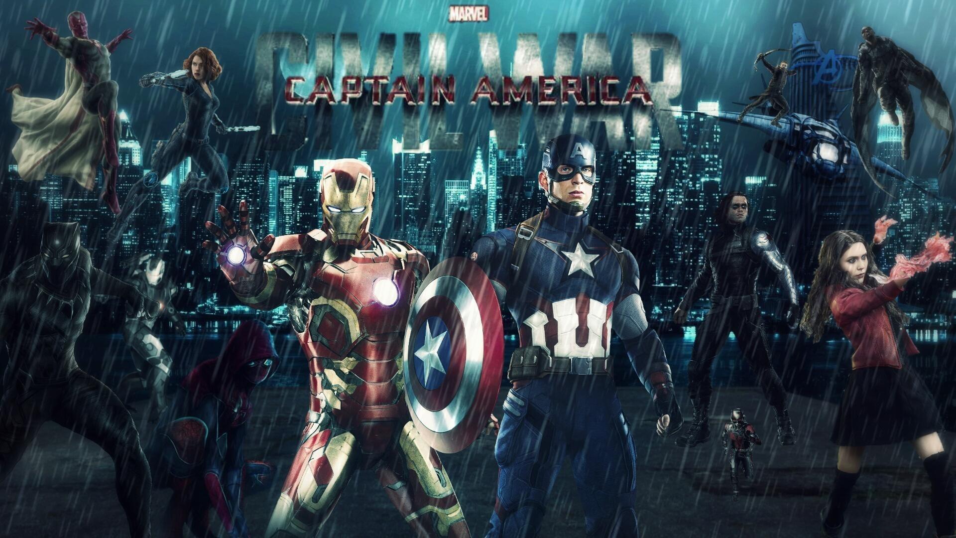 2880x1800 Civil War Captain America Team Wallpapers HD 2880A 1800