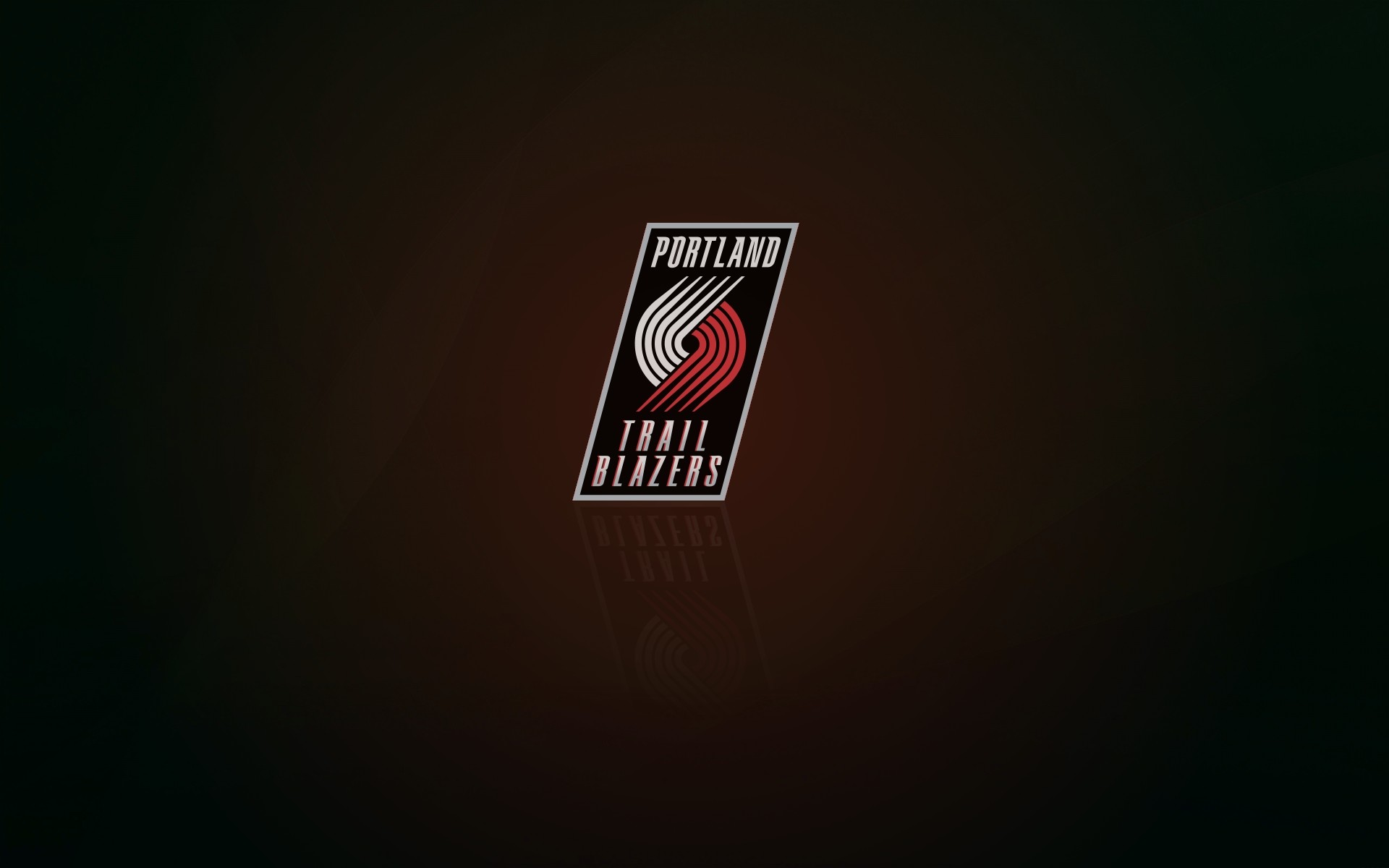 1920x1200 Portland Trail Blazers wallpaper and logo with shadow, widescreen  px, 16x10
