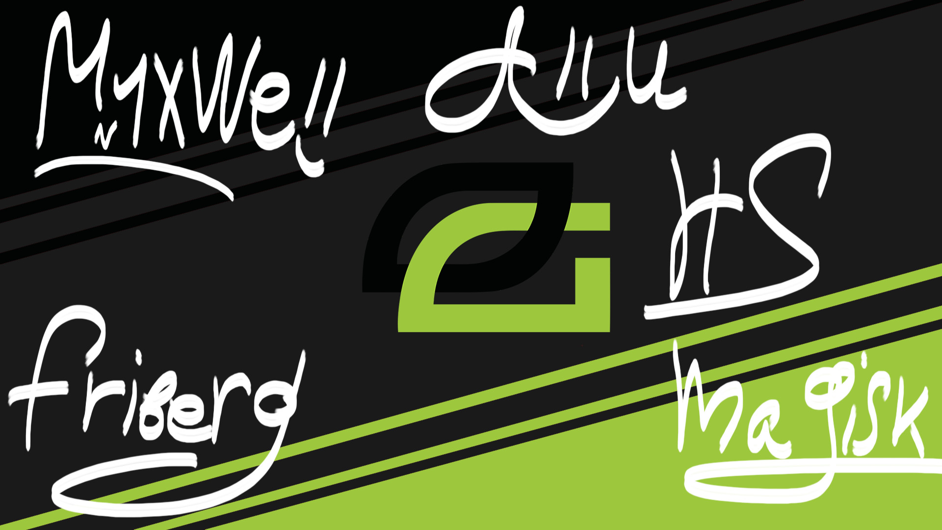 1920x1080 Optic Gaming player autograph By Ronofar