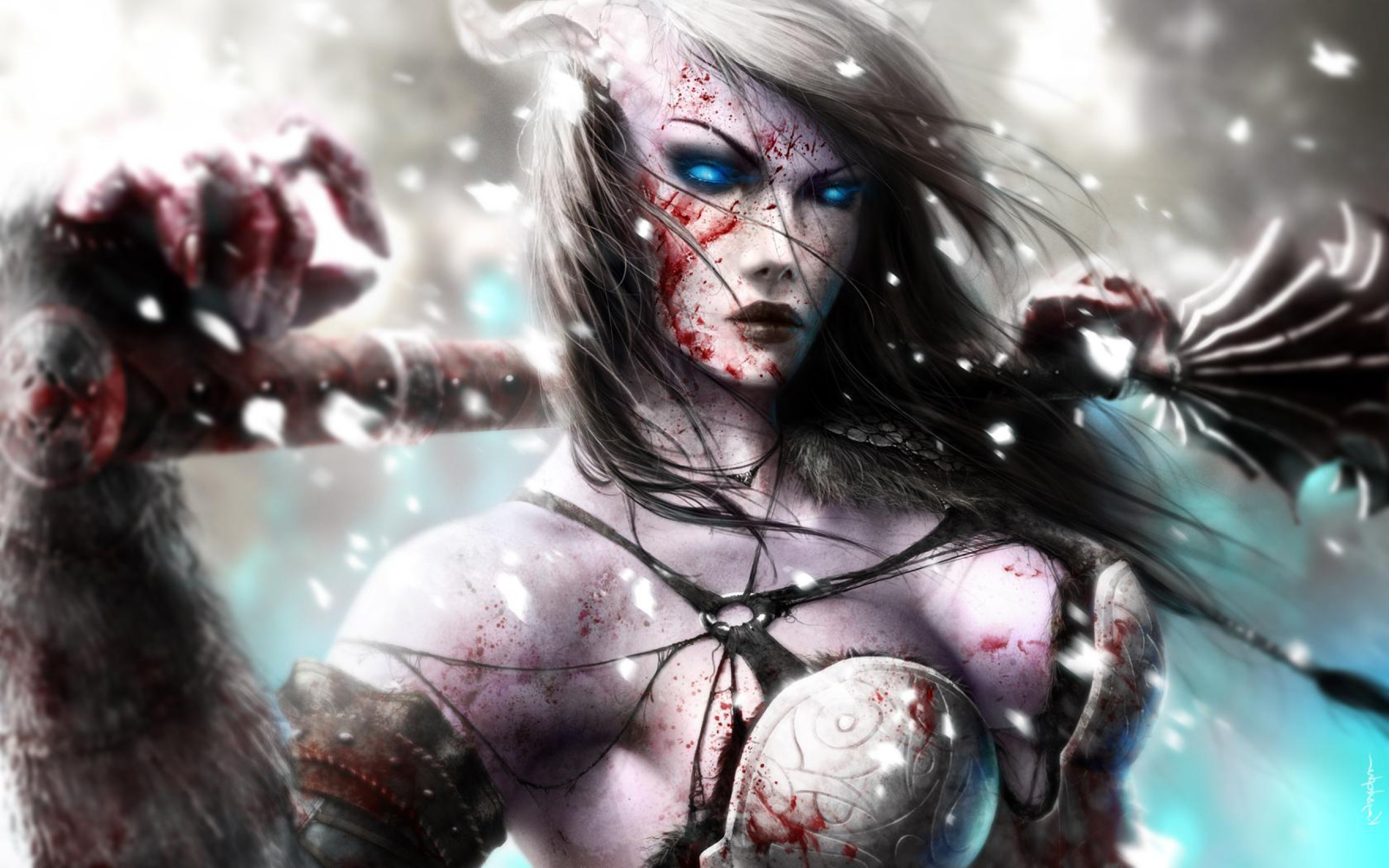 2560x1600 Fantasy - Women Warrior Wallpaper