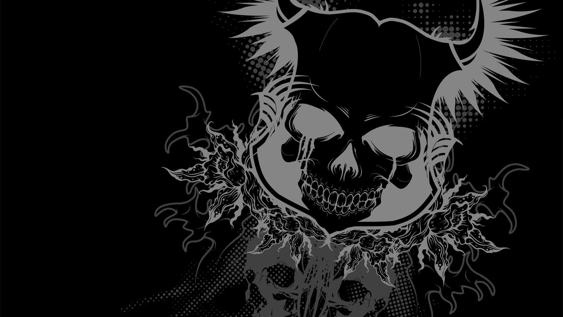 1920x1080 ... skull wallpapers on kubipet com ...