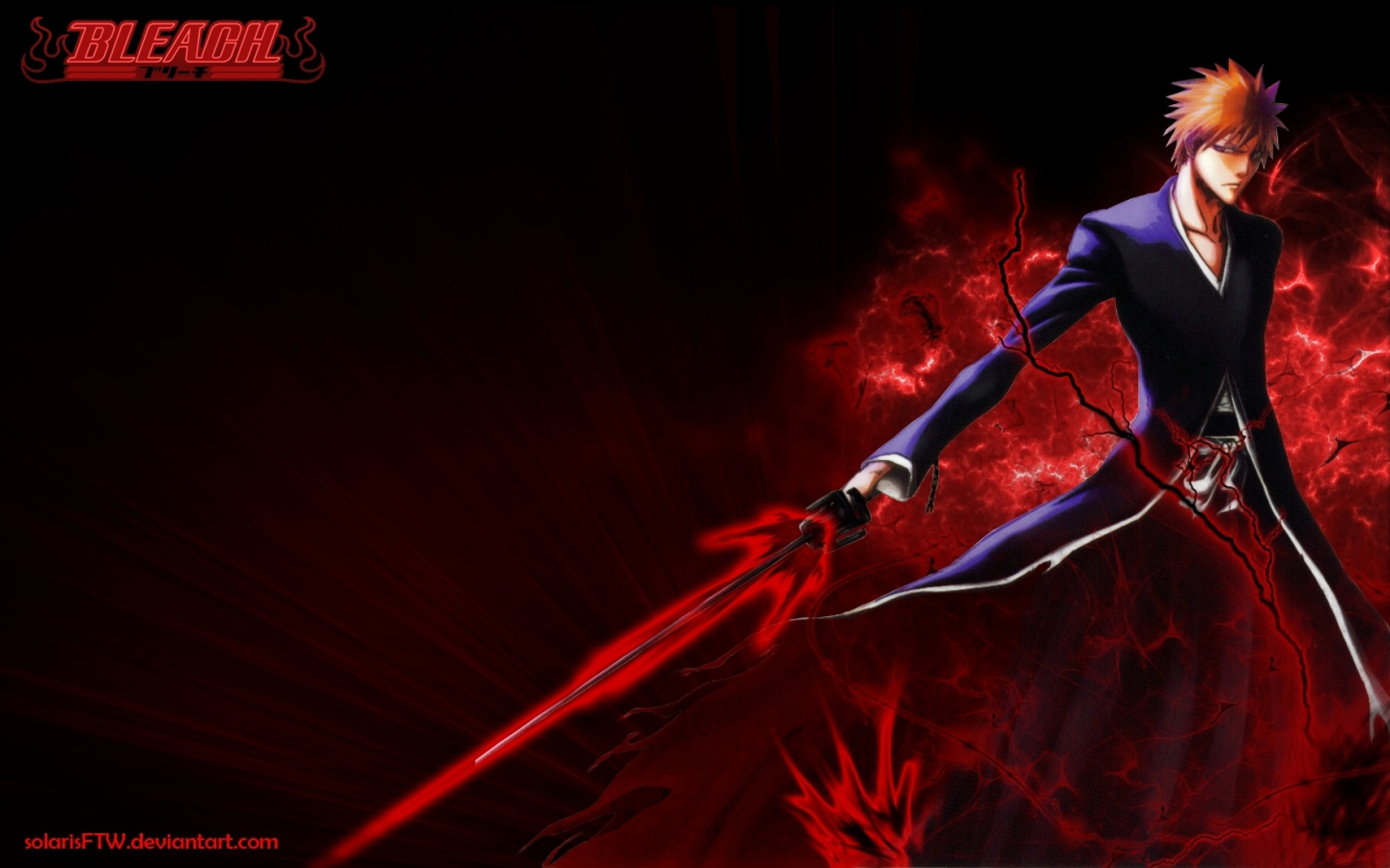 2880x1800 Bleach Wallpapers red sword