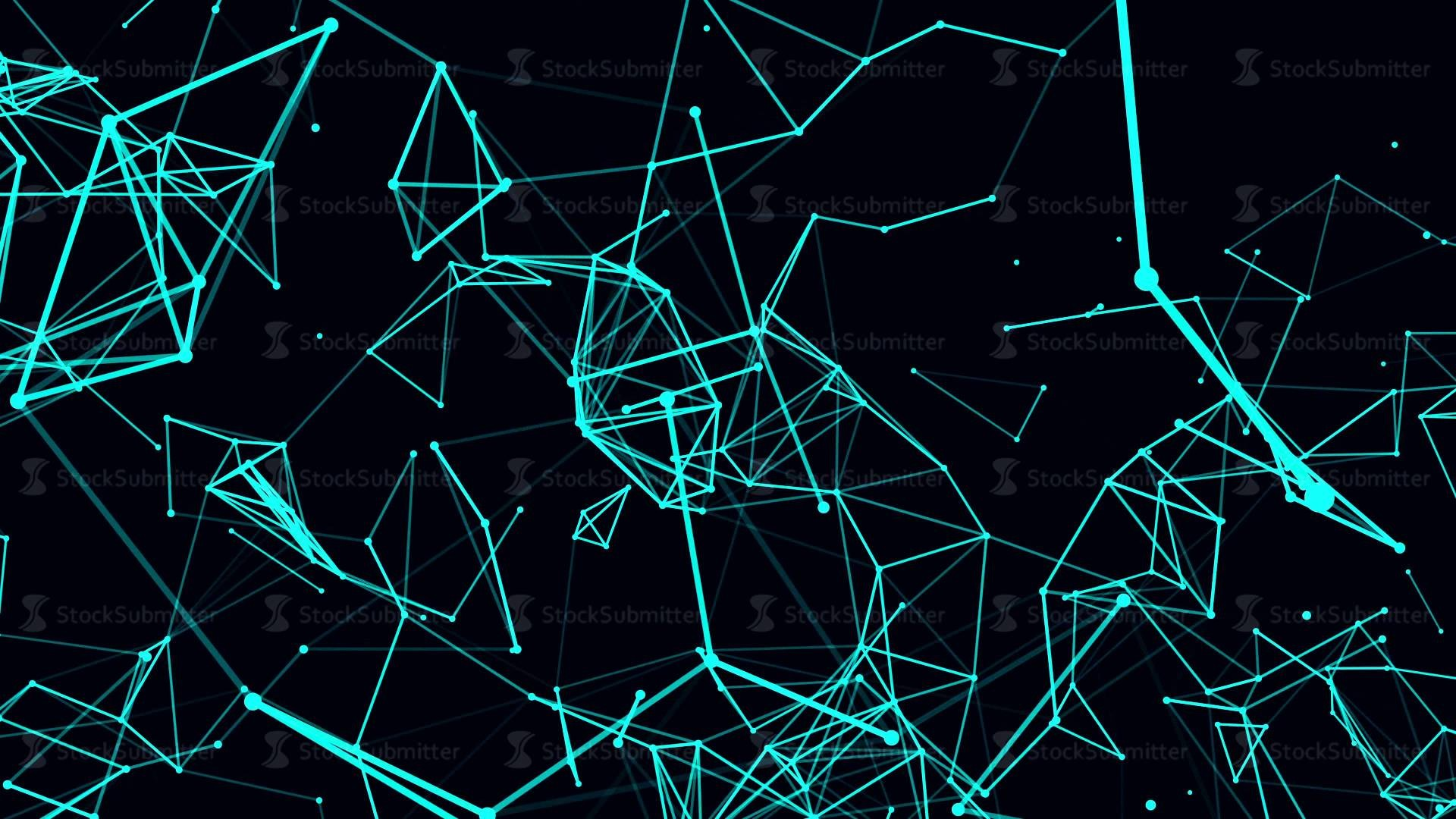 1920x1080 Futuristic technology background. loop abstract line and polygon animation.  4k