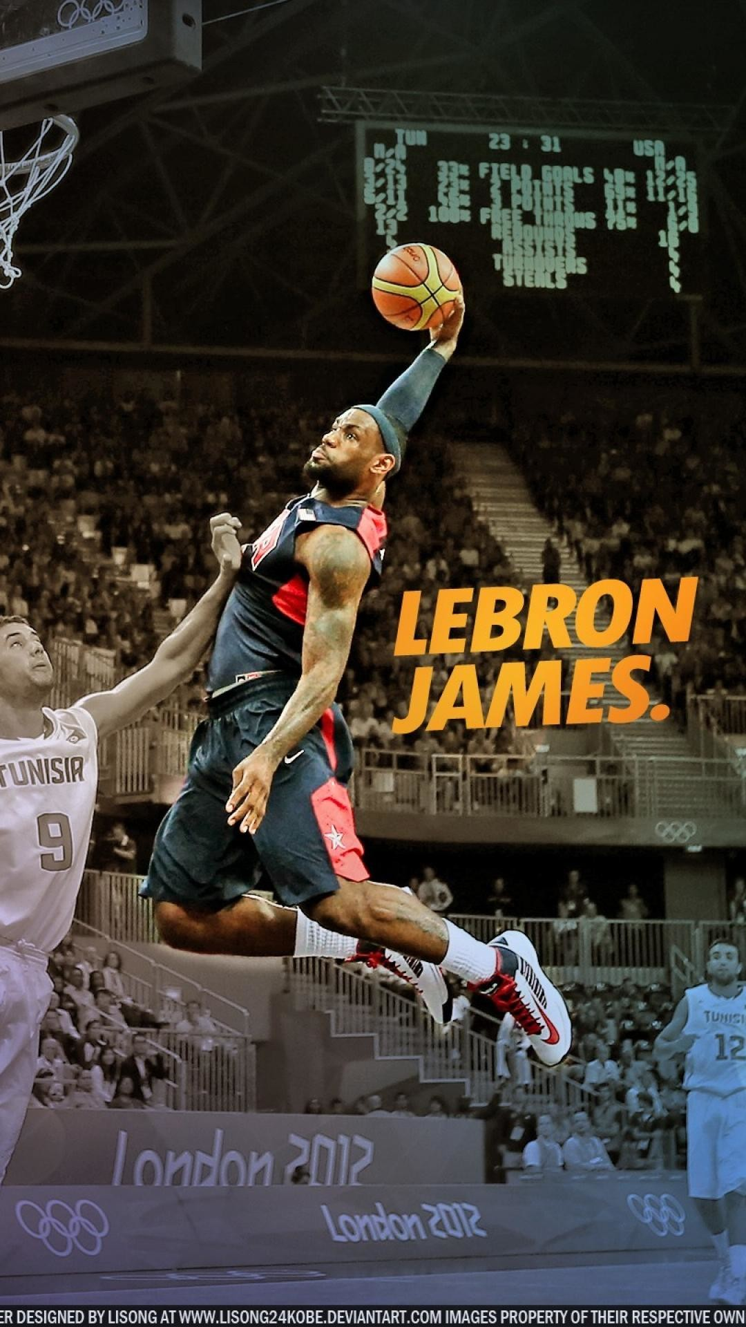 1080x1920 Jrue Holiday Dunk over LeBron James Wallpaper by PavanPGraphics on