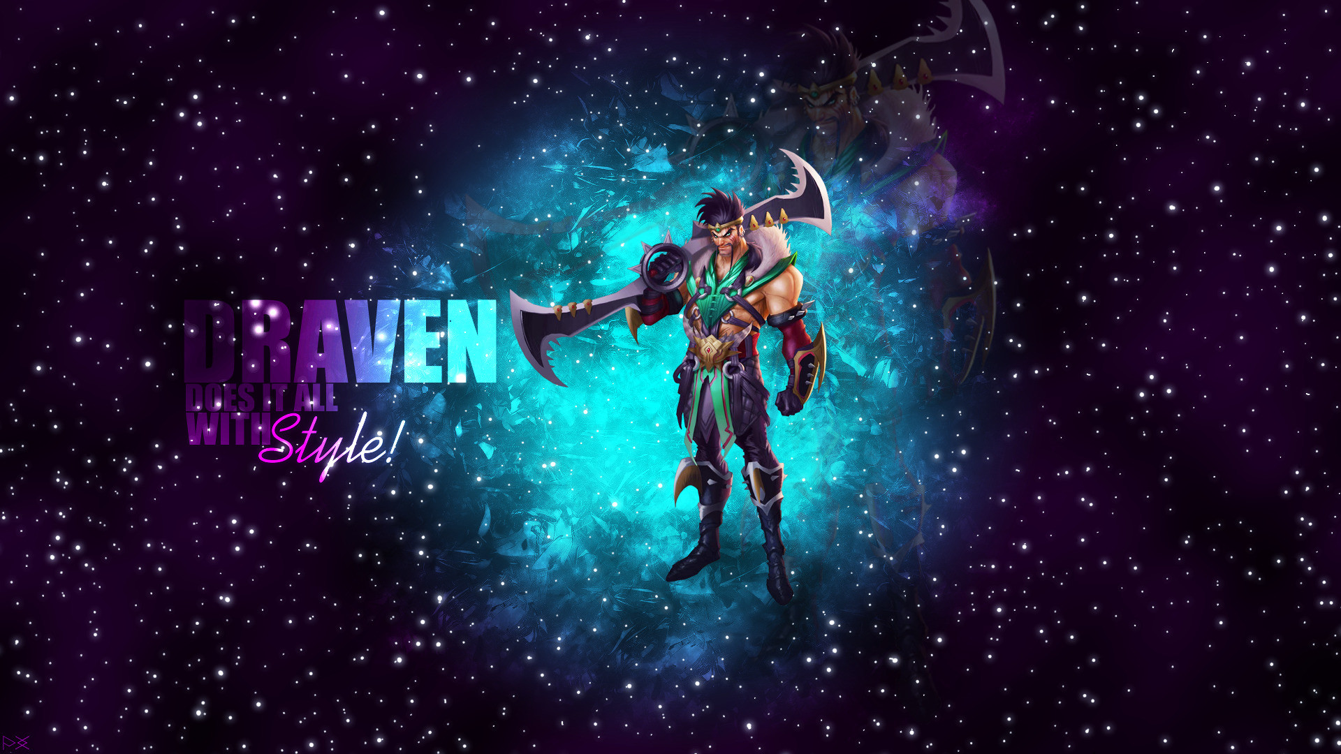 1920x1080 Draven, ADC, Marksman, League Of Legends, Stars, Galaxy Wallpapers HD /  Desktop and Mobile Backgrounds