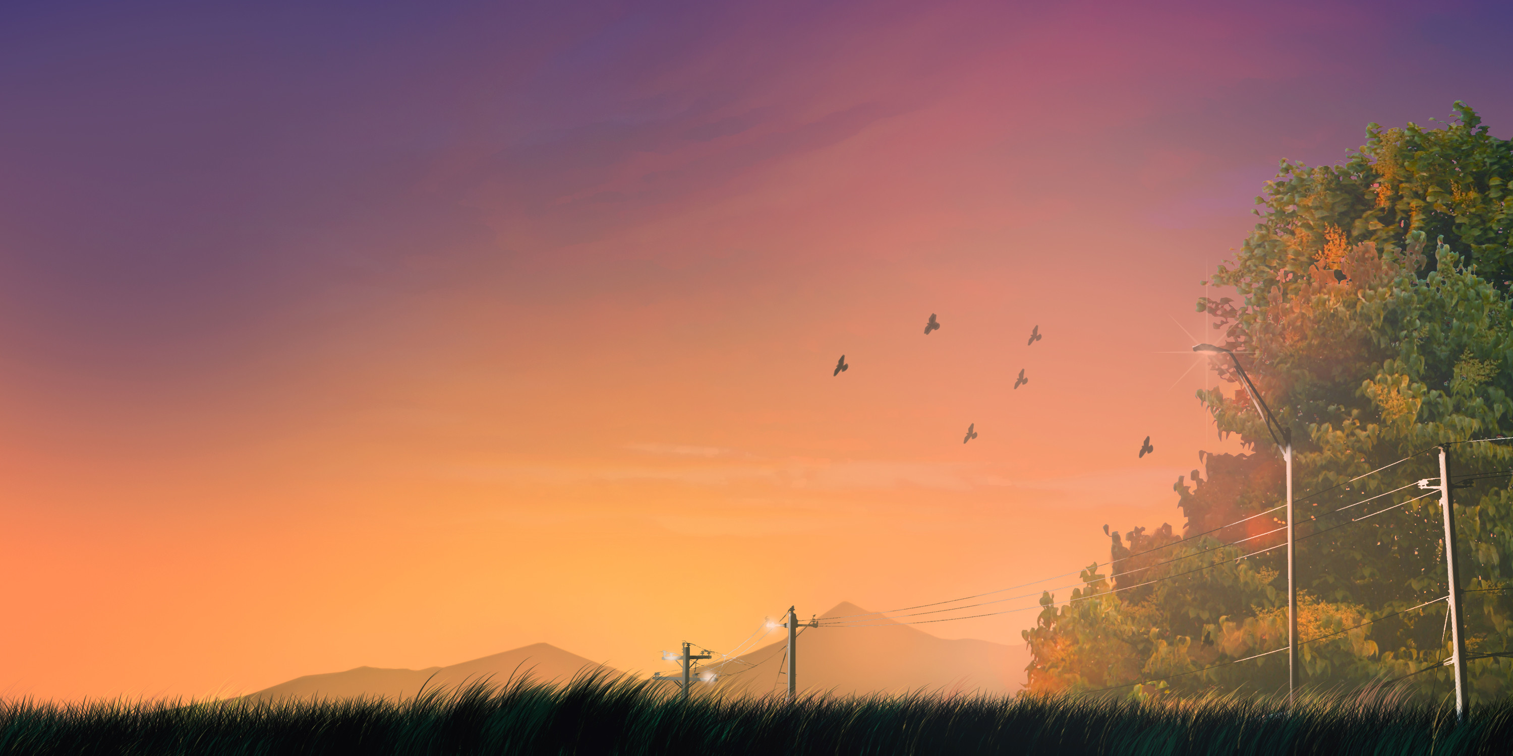 3000x1500 ... Anime background - landscape final vers. by JikanPulvis