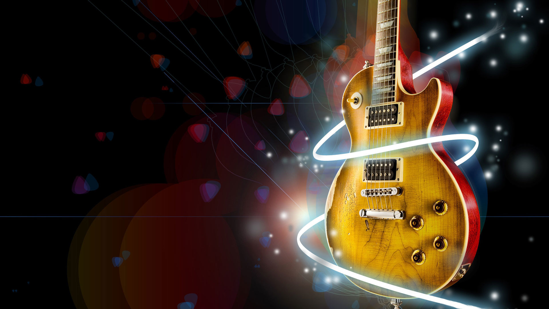 1920x1080 hd pics photos music animated gibson guitar hd desktop background wallpaper