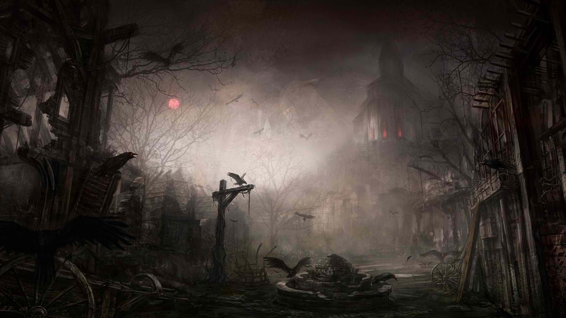 1920x1080 scary halloween background hd wallpaper wallpapers55com Best