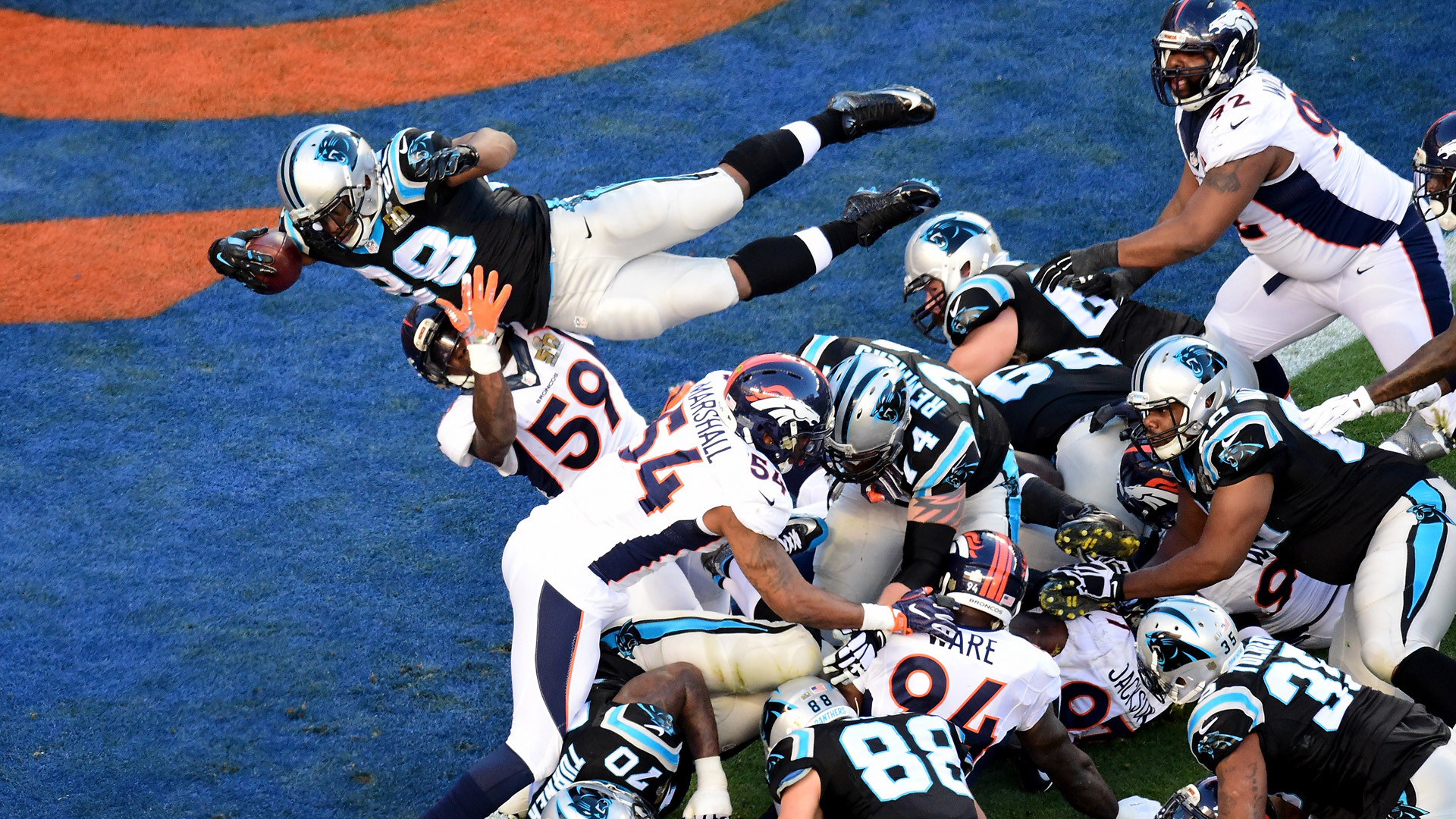 1920x1080 Highlights of Super Bowl 50, between Cam Newton's Carolina Panthers and  Peyton Manning's Denver Broncos