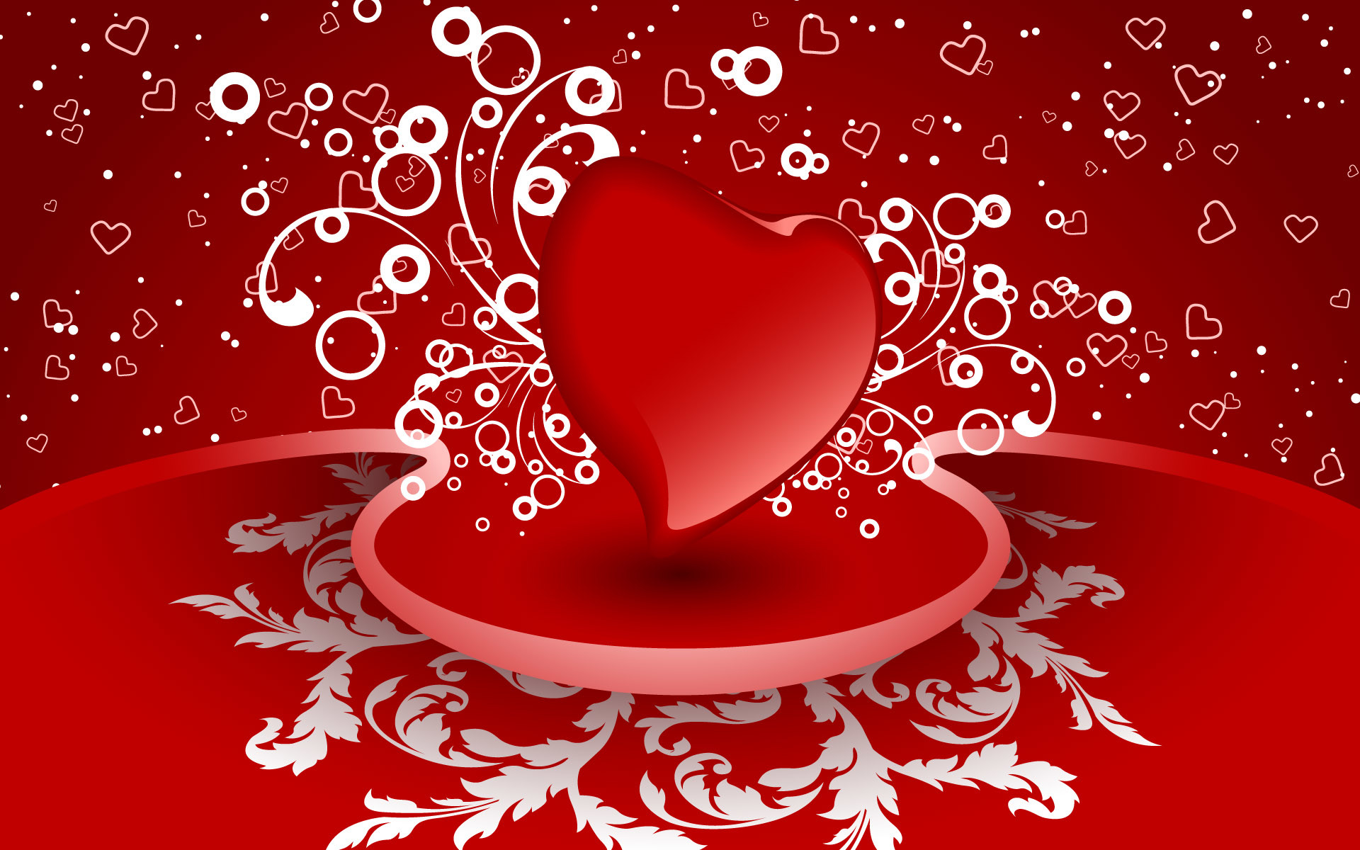 1920x1200 Valentines-Day-Red-hearts-Wallpapers