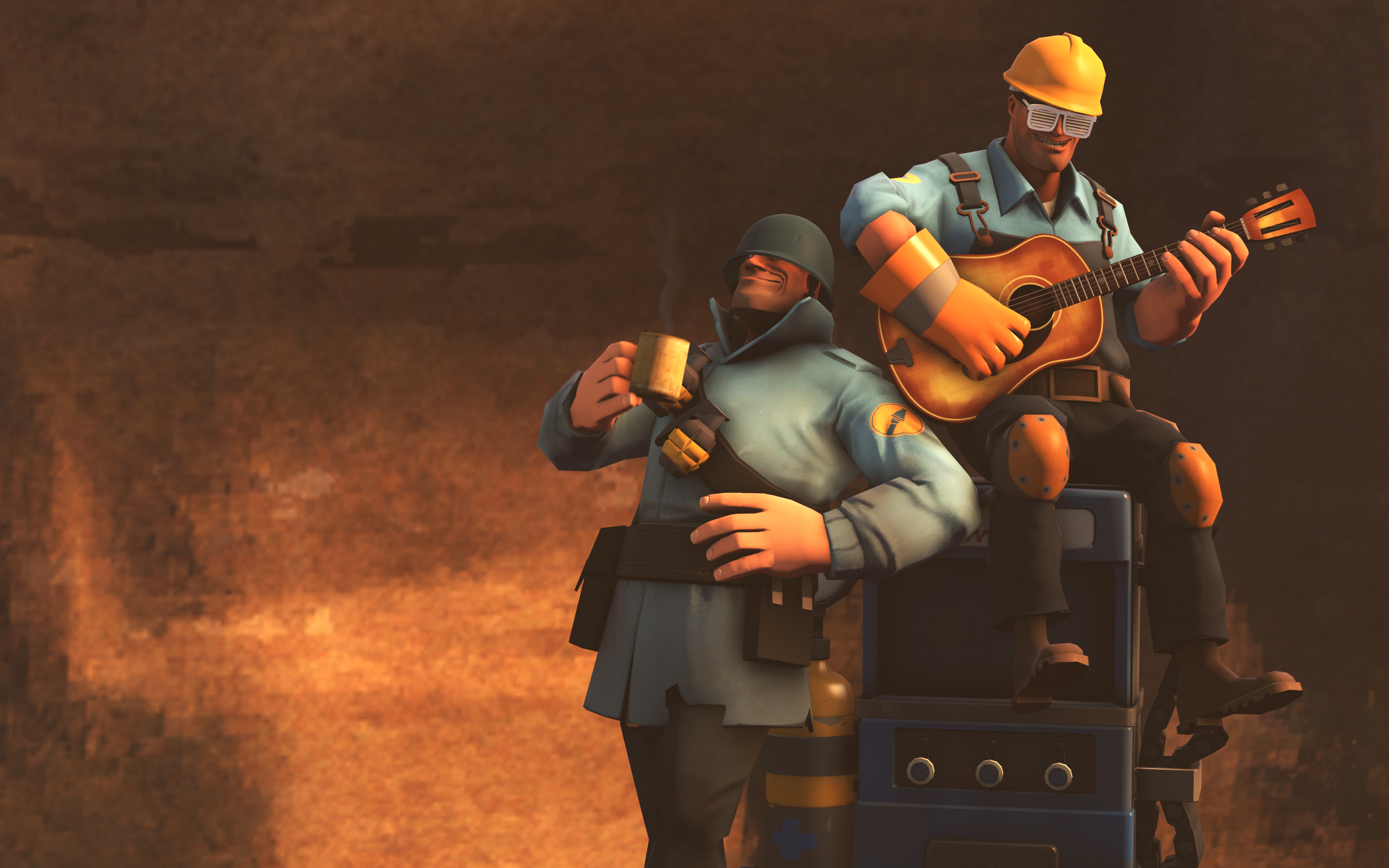 2880x1800 Team fortress 2 wallpaper soldier and engie chill wallpapers.