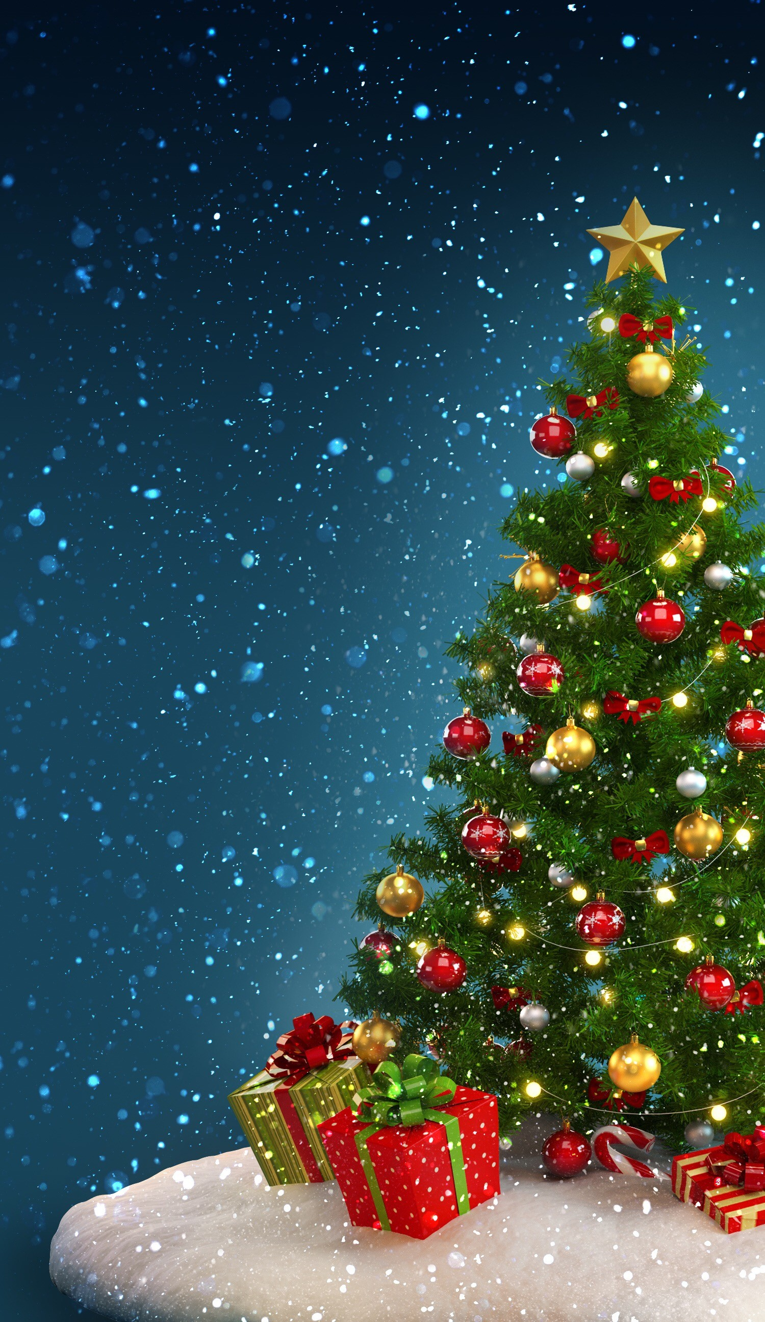 1500x2592 christmas tree wallpaper