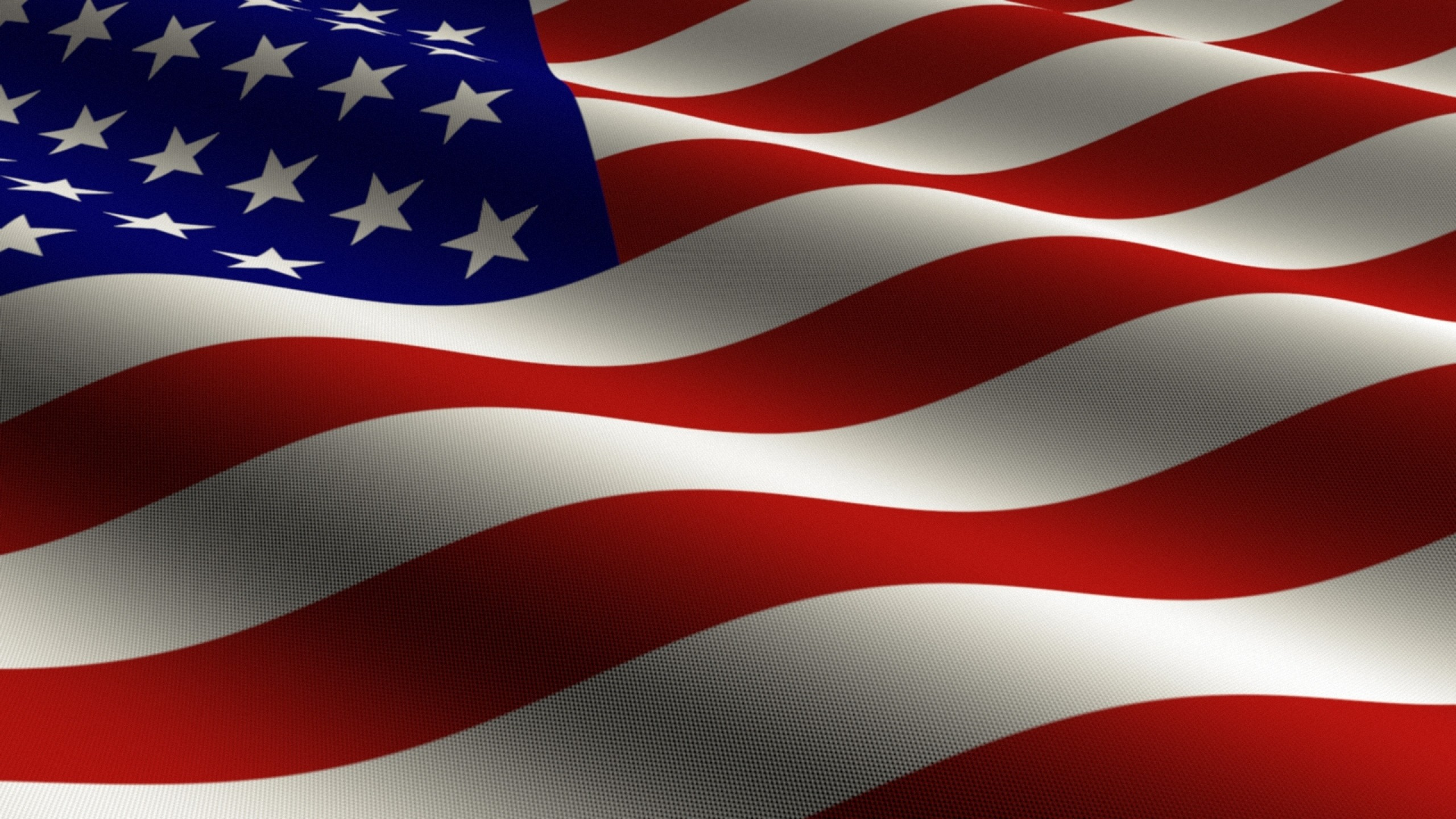 2560x1440 Preview wallpaper flag, united states, stars, stripes, symbol