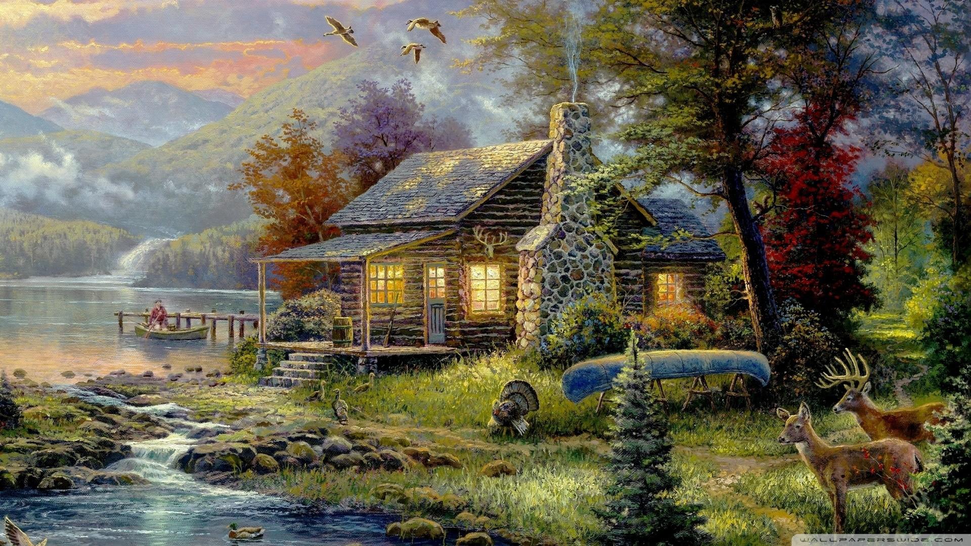 2392x1592 Wallpapers Pictorial art Thomas Kinkade, free desktop photo 281744 · Download