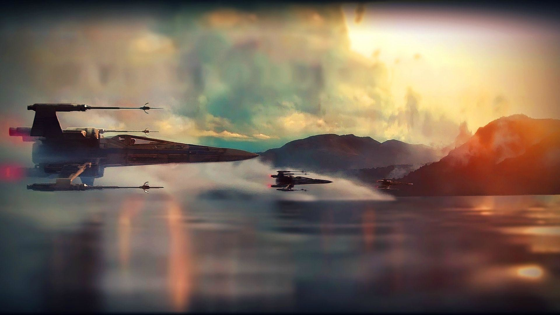 1920x1080 Star Wars Ep VII: The Force Awakens Teaser X-Wing Super Saturated .